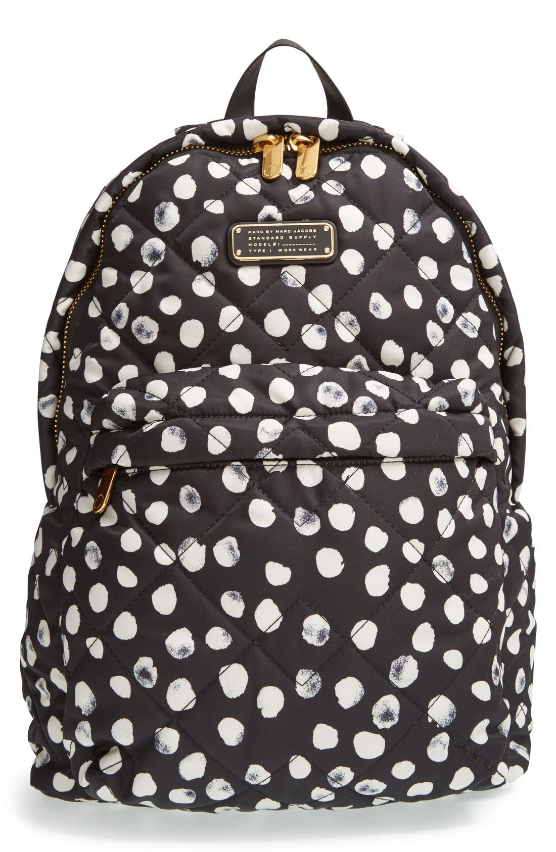 MARC JACOBS, MARC BY MARC JACOBS 'Crosby' Quilted Backpack, Main thumbnail 1, color, 001