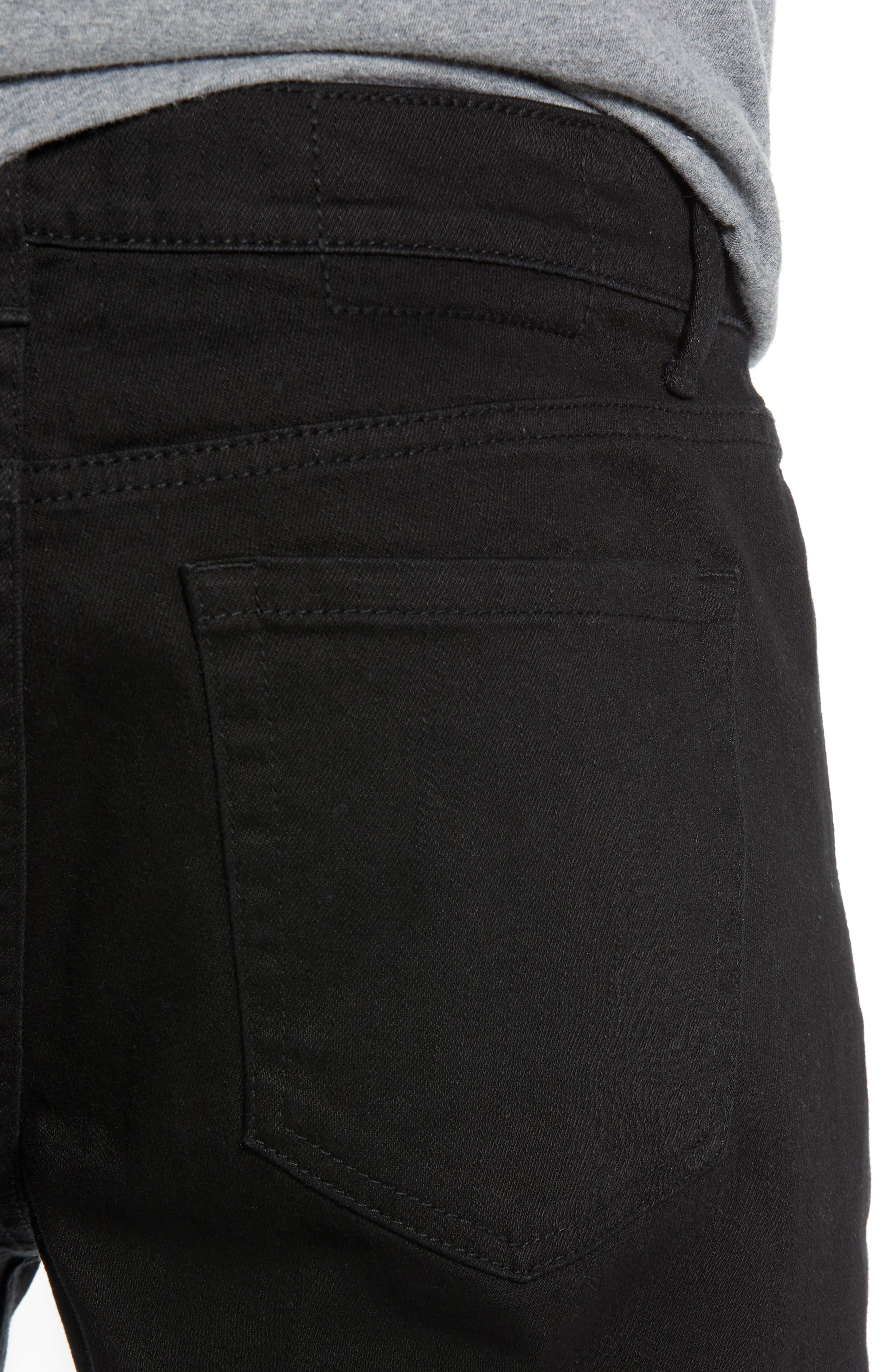 THE RAIL, Skinny Moto Jeans, Alternate thumbnail 5, color, BLACK WASH