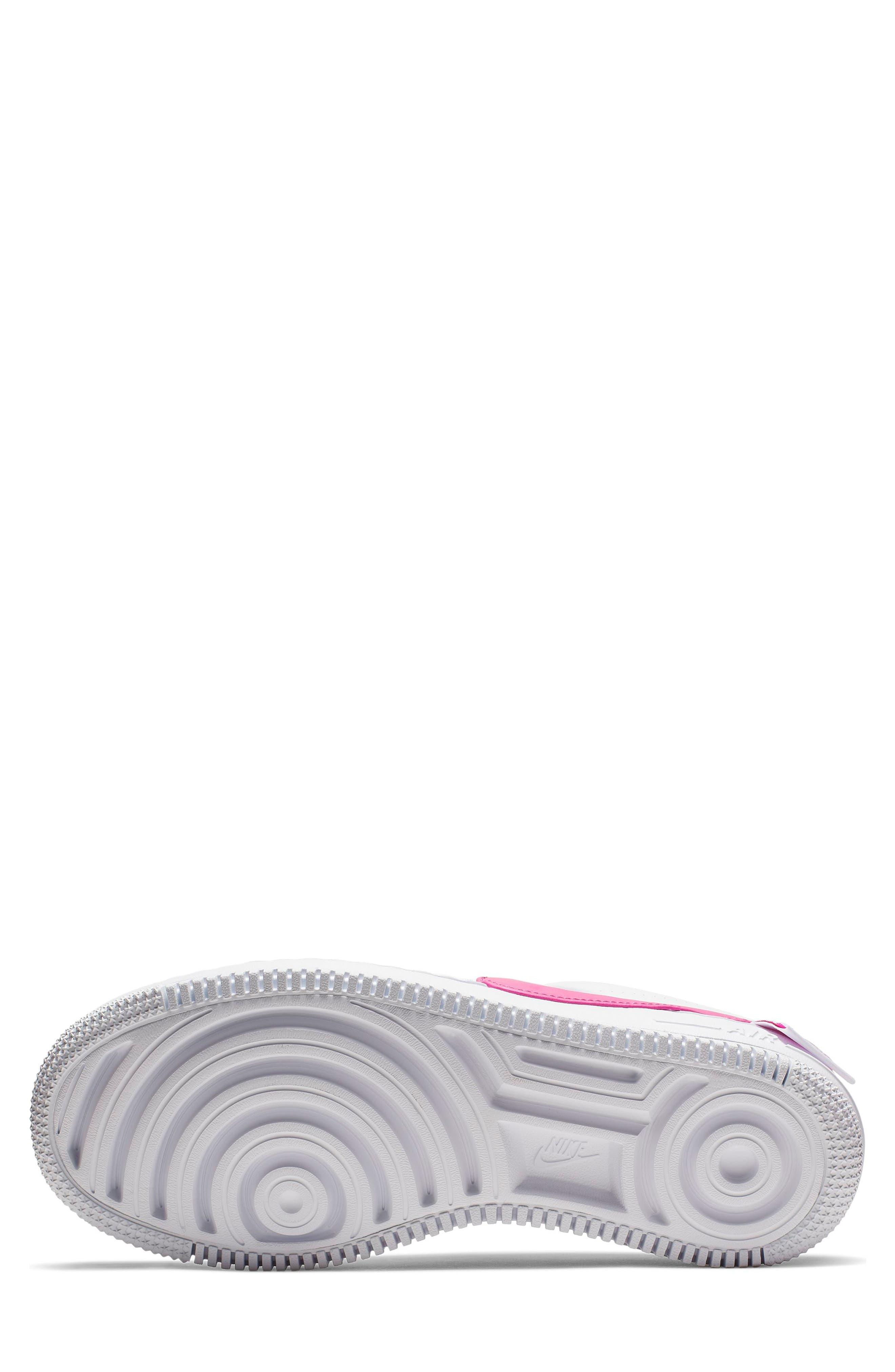 NIKE, Air Force 1 Jester XX Sneaker, Alternate thumbnail 5, color, WHITE/ LASER FUCHSIA