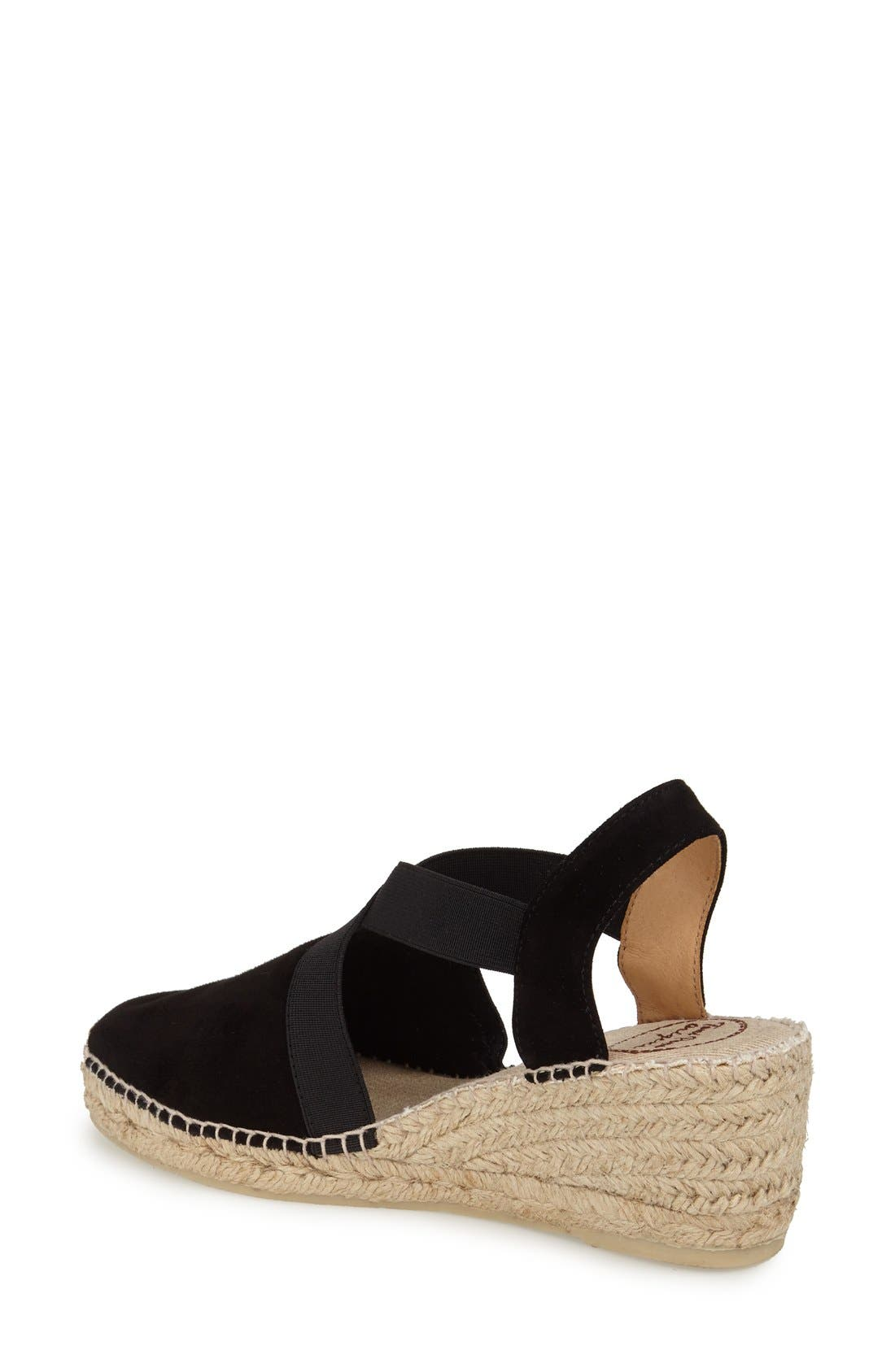 TONI PONS, Tona Espadrille Wedge, Alternate thumbnail 3, color, BLACK SUEDE
