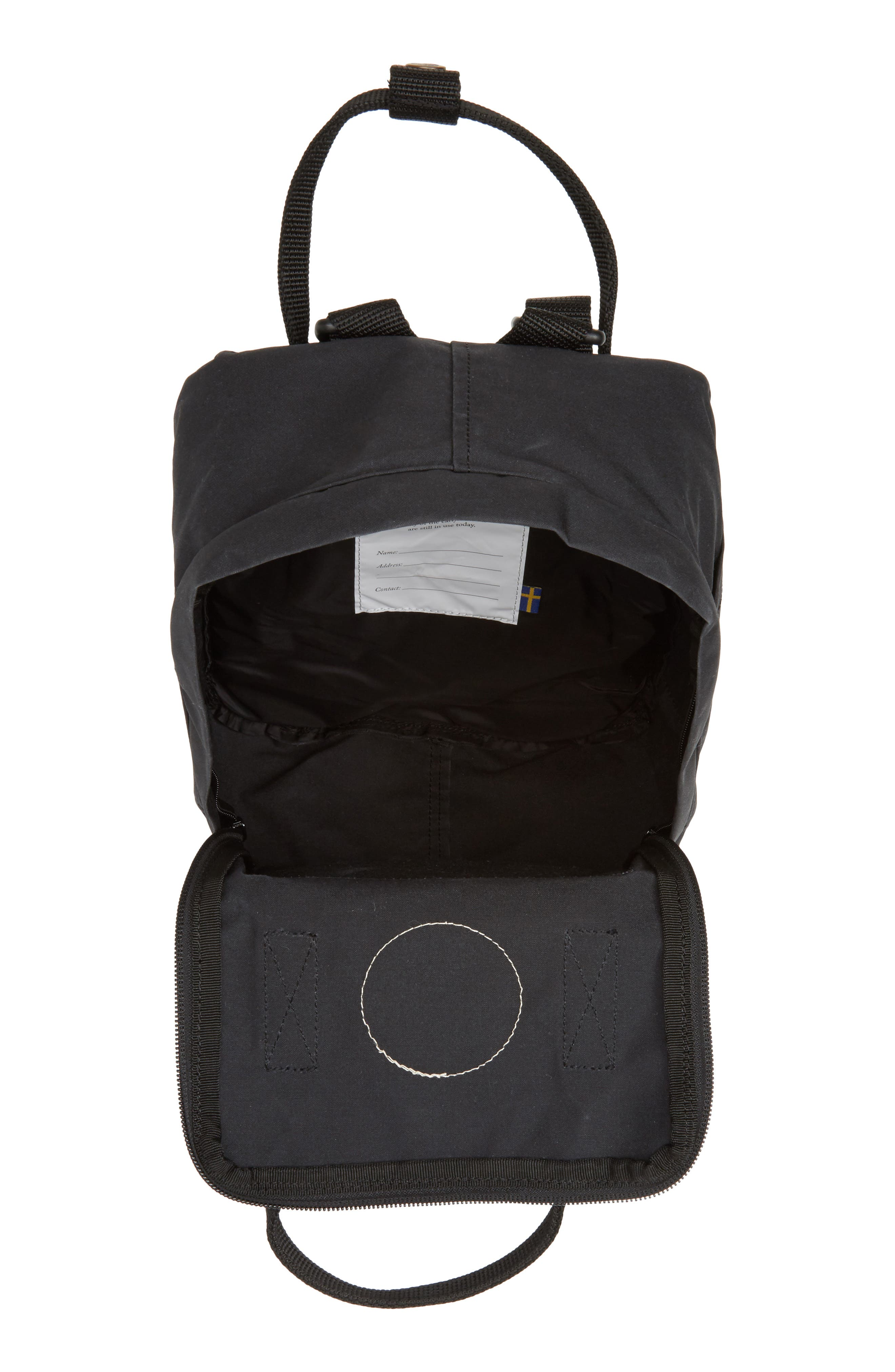 FJÄLLRÄVEN, 'Mini Kånken' Water Resistant Backpack, Alternate thumbnail 5, color, 001