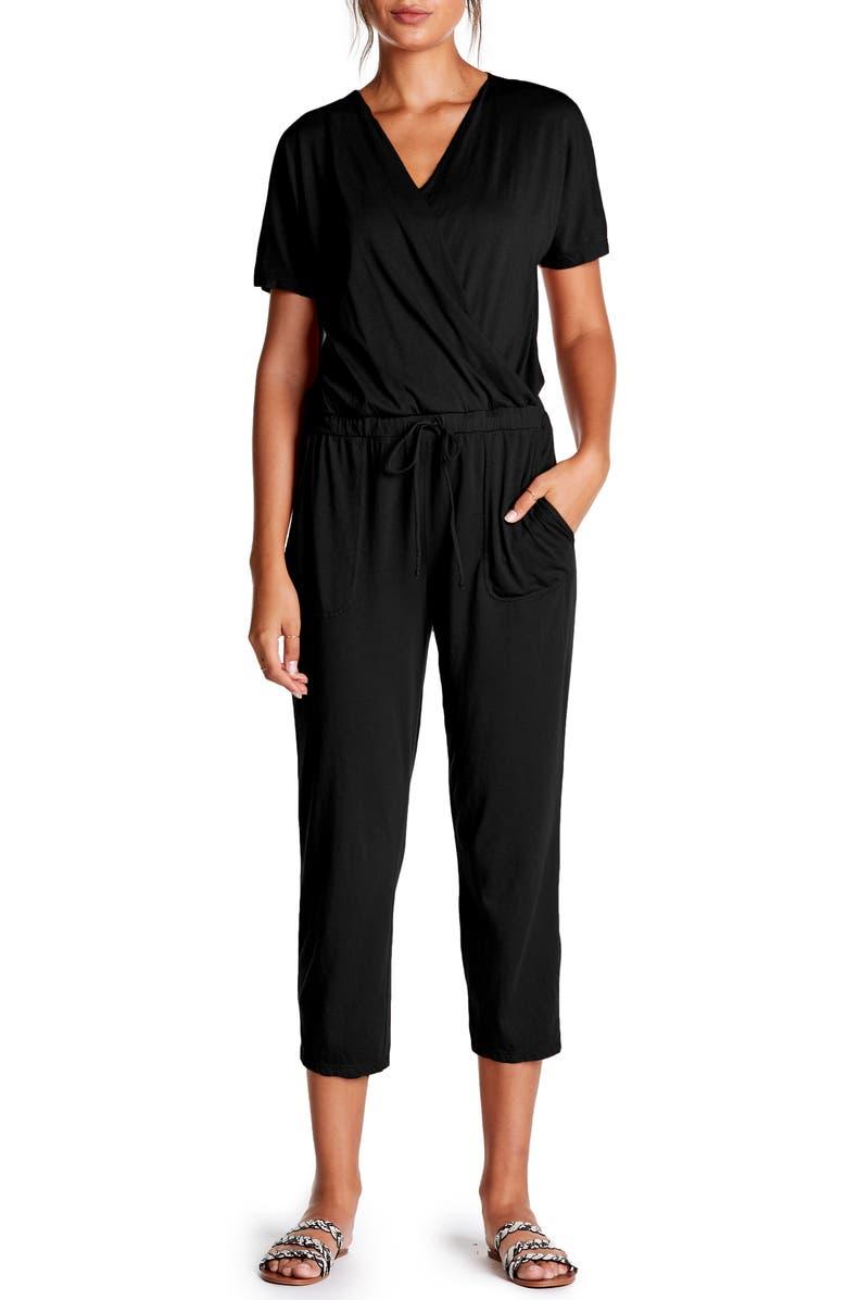 03b3ac55a12 Michael Stars Short Sleeve Cotton Blend Crop Jumpsuit