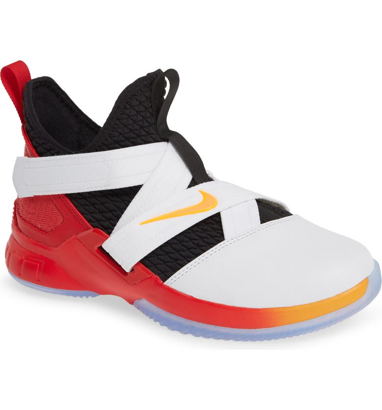 newest 7af16 cffa5 NIKE LeBron Soldier XII Basketball Shoe, Main, color, WHITE  LASER ORANGE-