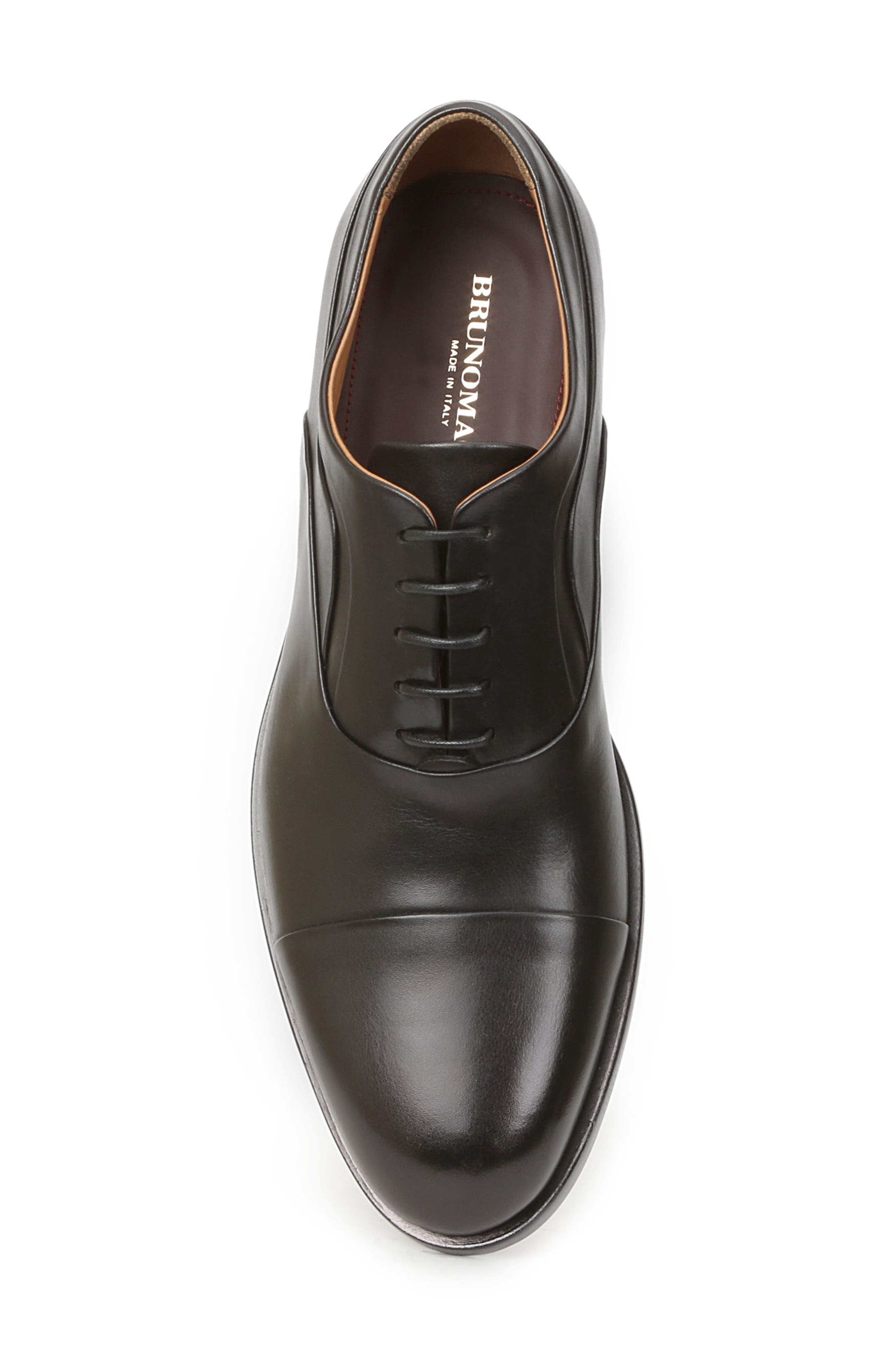 BRUNO MAGLI, Sassiolo Cap Toe Oxford, Alternate thumbnail 5, color, BLACK
