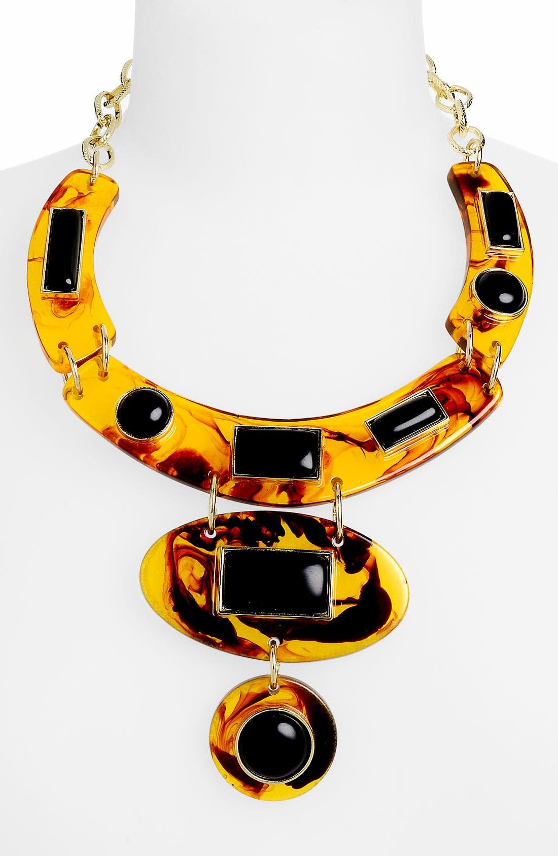 SPRING STREET Design Group Bib Necklace, Main, color, 200