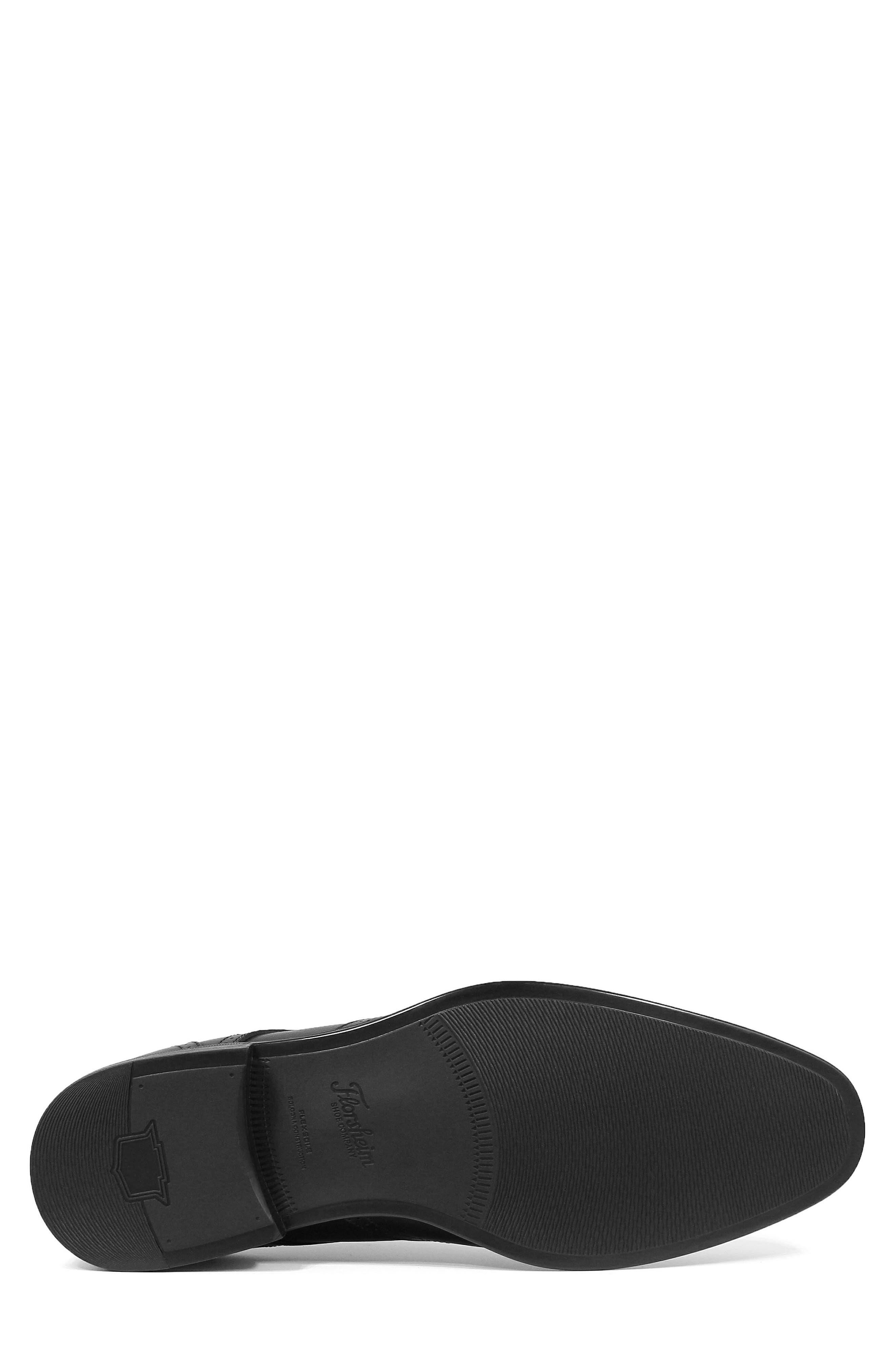 FLORSHEIM, Cardineli Cap Toe Derby, Alternate thumbnail 6, color, BLACK LEATHER