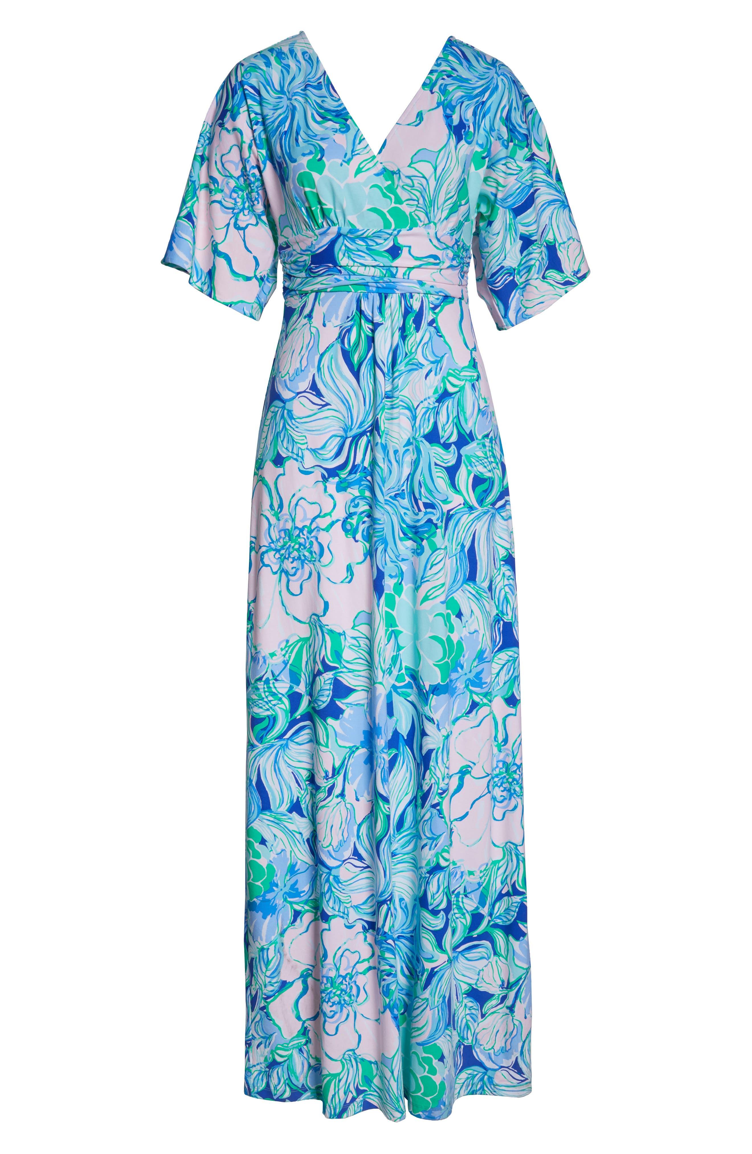 LILLY PULITZER<SUP>®</SUP>, Parigi Maxi Dress, Alternate thumbnail 6, color, MULTI PARTY THYME