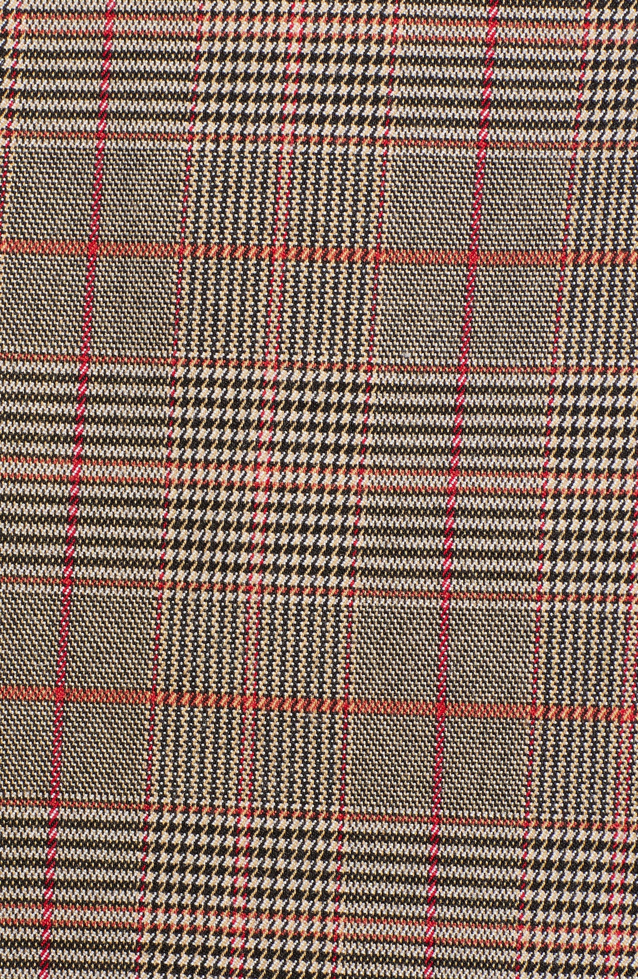 CHELSEA28, Plaid Trench Coat, Alternate thumbnail 7, color, 235