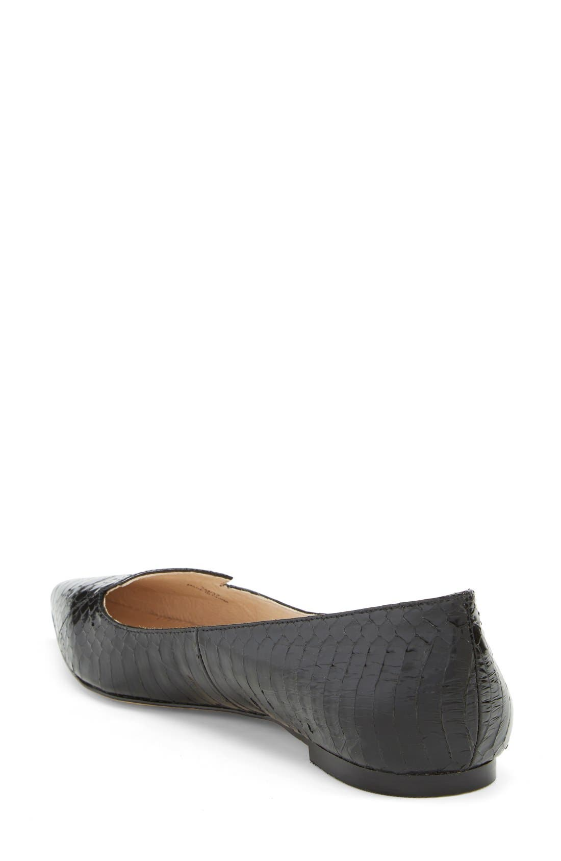 VINCE CAMUTO, 'Empa' Pointy Toe Loafer Flat, Alternate thumbnail 3, color, 001