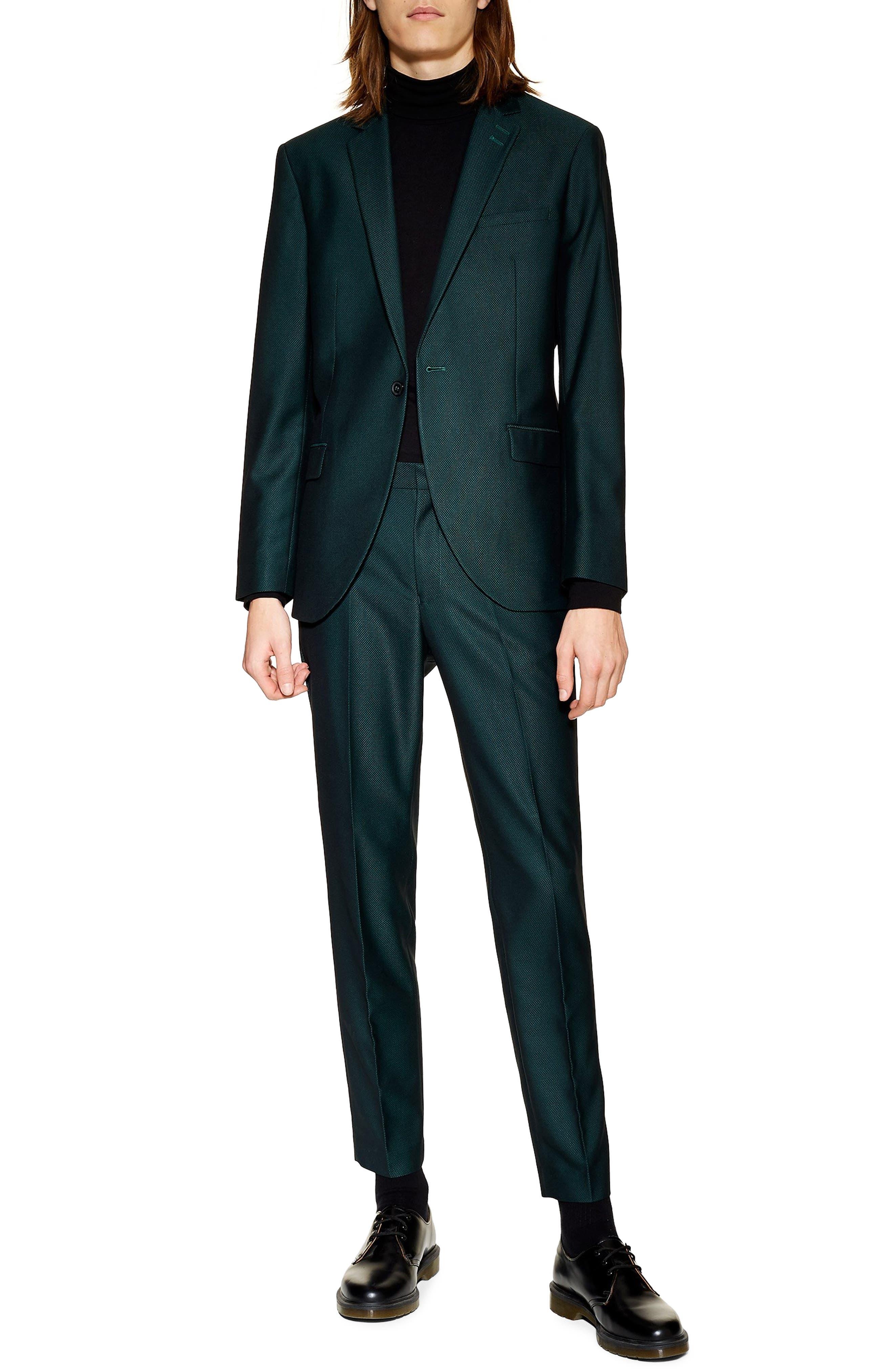 TOPMAN, Banbury Slim Fit Suit Trousers, Main thumbnail 1, color, 300