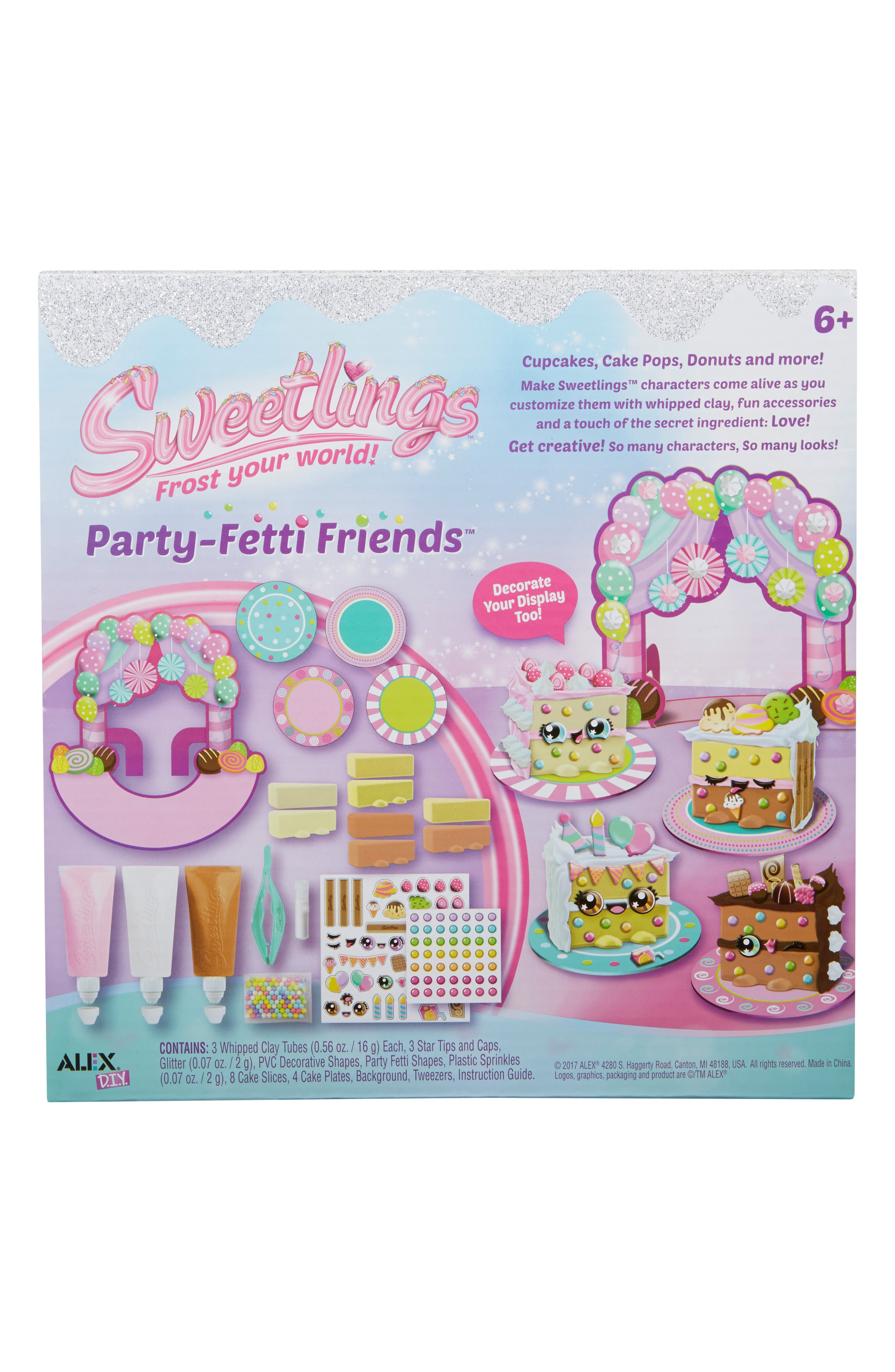 ALEX<SUP>®</SUP> TOYS, DIY Sweetlings Party Fetti Friends, Alternate thumbnail 2, color, 960