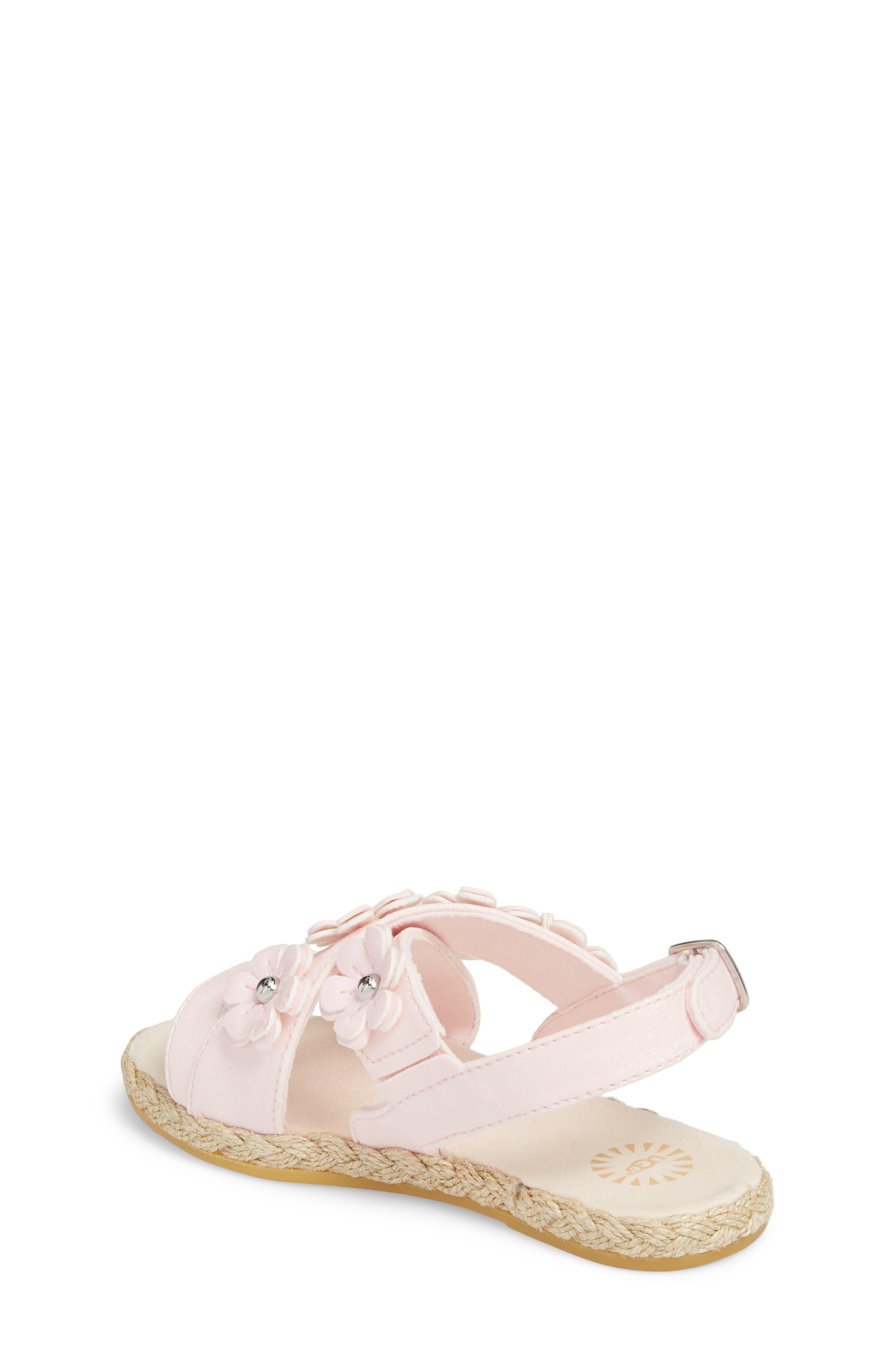 UGG<SUP>®</SUP>, Allairey Sparkles Espadrille Sandal, Alternate thumbnail 2, color, SEASHELL PINK