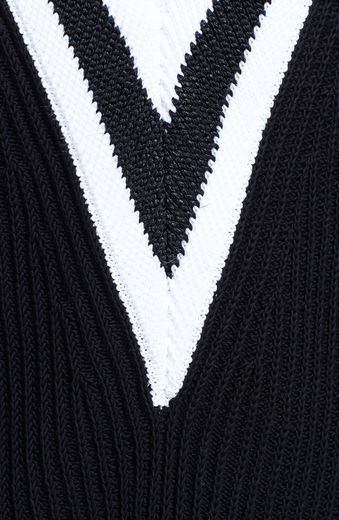 RAG & BONE, 'Talia' V-Neck Sweater, Alternate thumbnail 3, color, 001