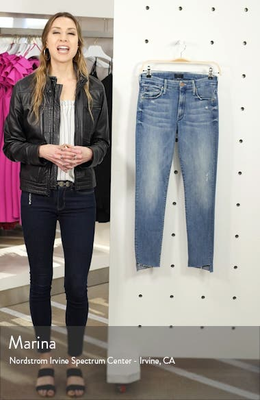 The Looker Frayed Step Hem Ankle Skinny Jeans, sales video thumbnail