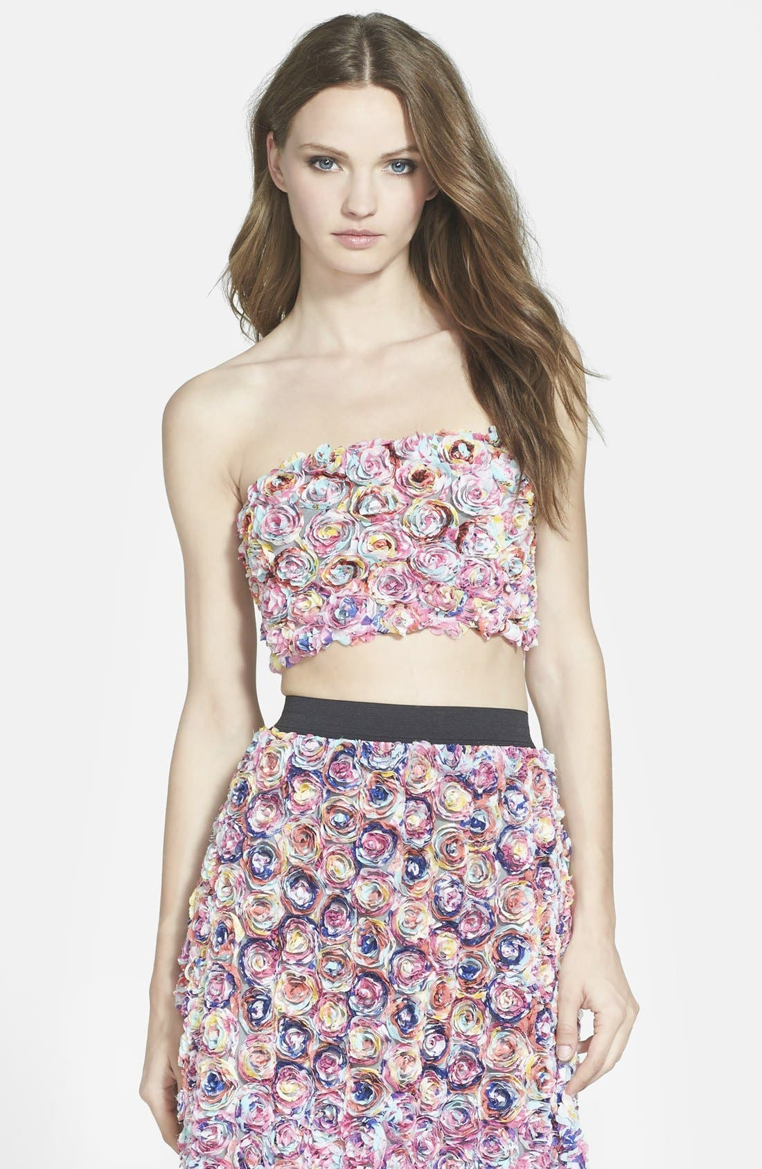 LEITH Dimensional Floral Tube Top, Main, color, 660