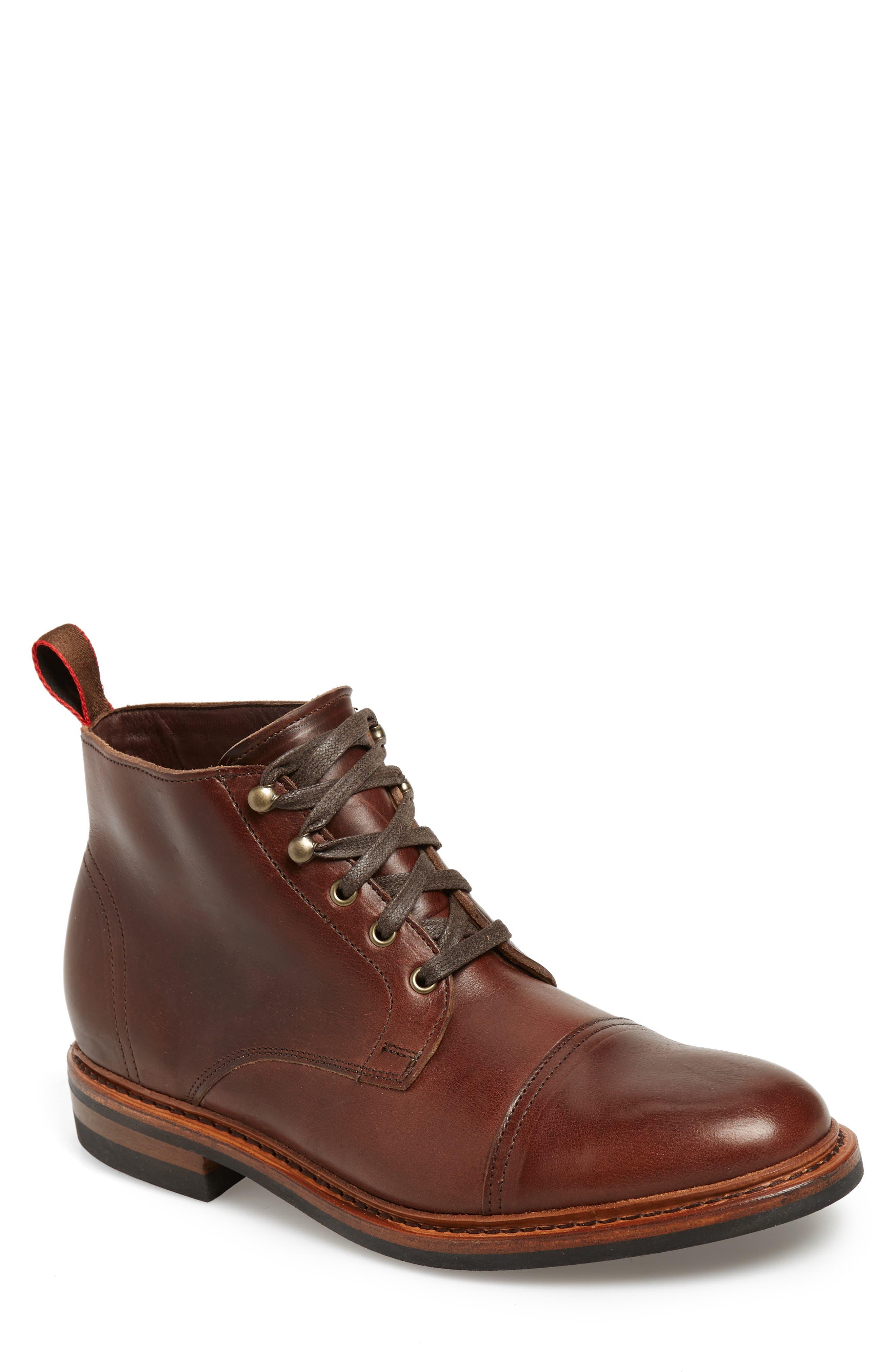 Allen Edmonds Hearst Cap Toe Boot, Brown