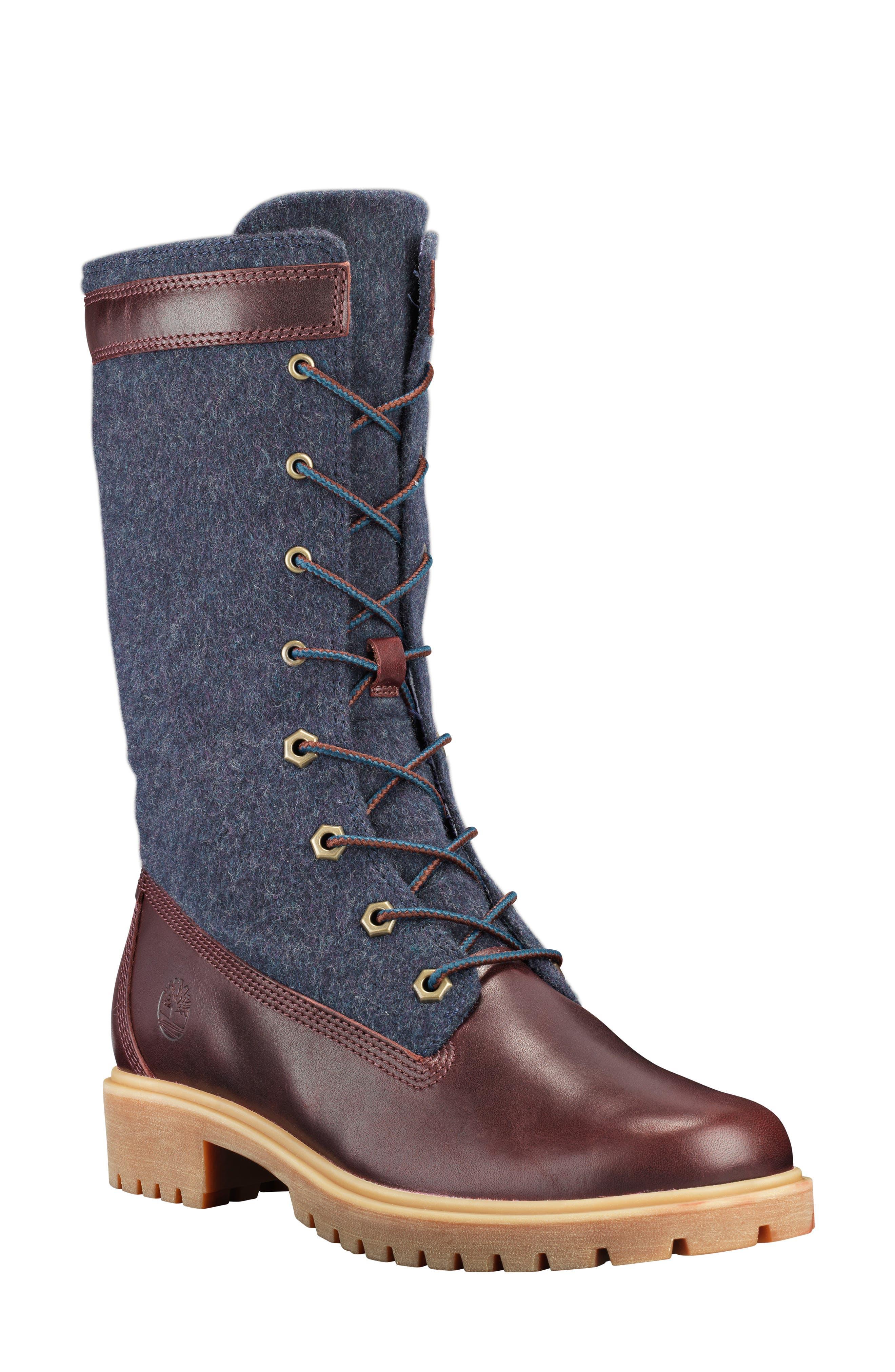 Timberland Jayne Waterproof Gaiter Boot- Burgundy