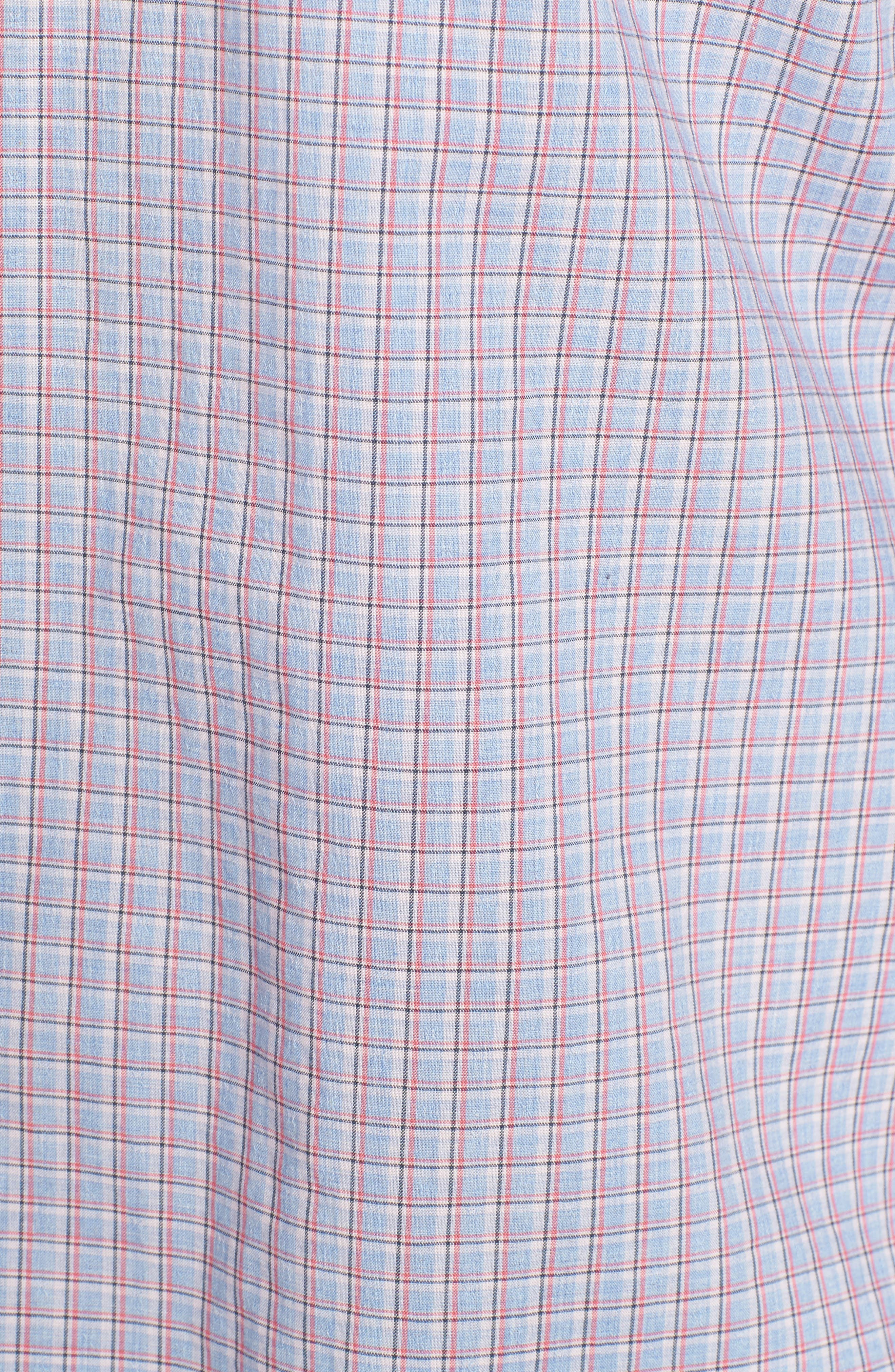 ZACHARY PRELL, Drozdov Regular Fit Plaid Sport Shirt, Alternate thumbnail 5, color, PINK