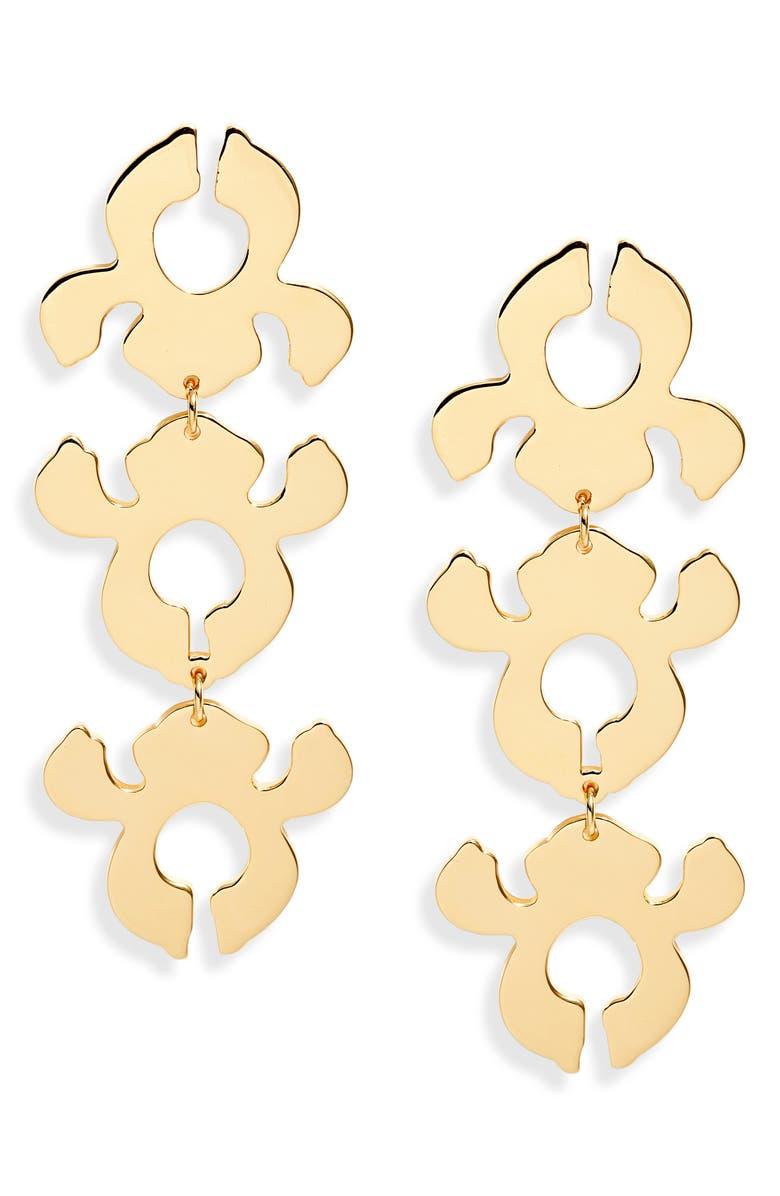 Lele Sadoughi Accessories IRIS BOUQUET SHADOW DROP EARRINGS