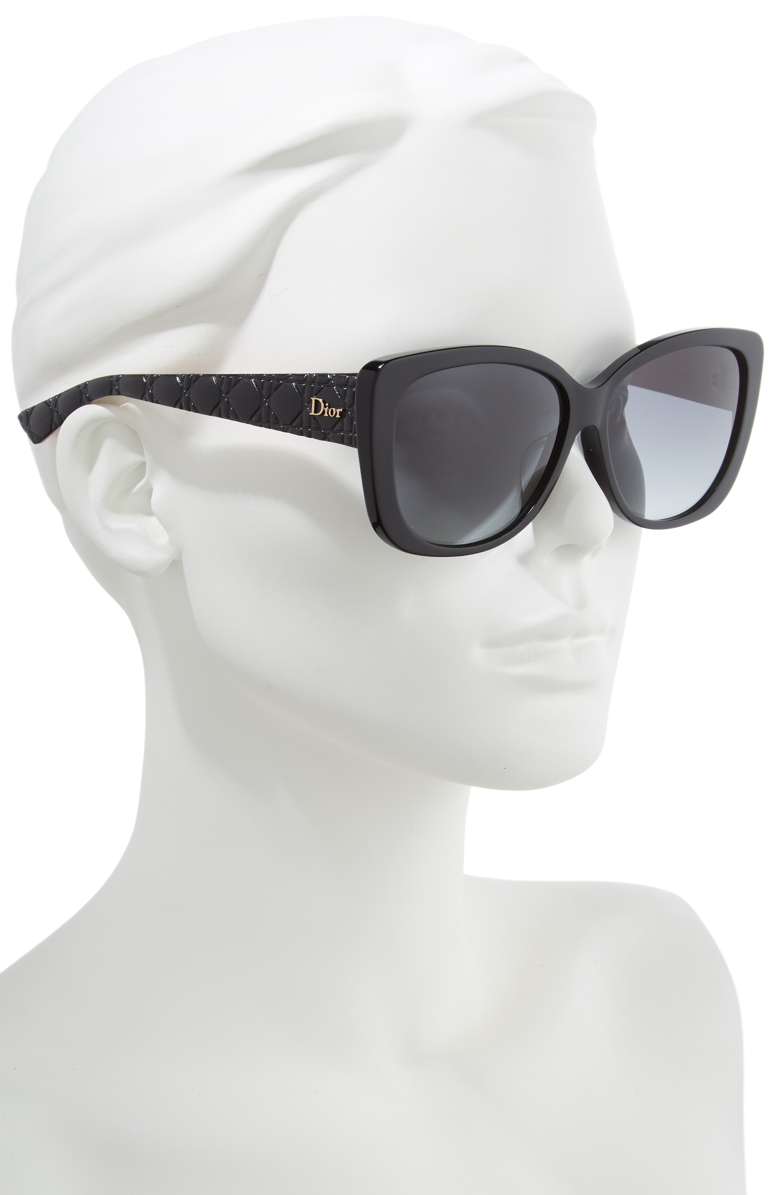 DIOR, Lady 59mm Cat Eye Sunglasses, Alternate thumbnail 2, color, 001