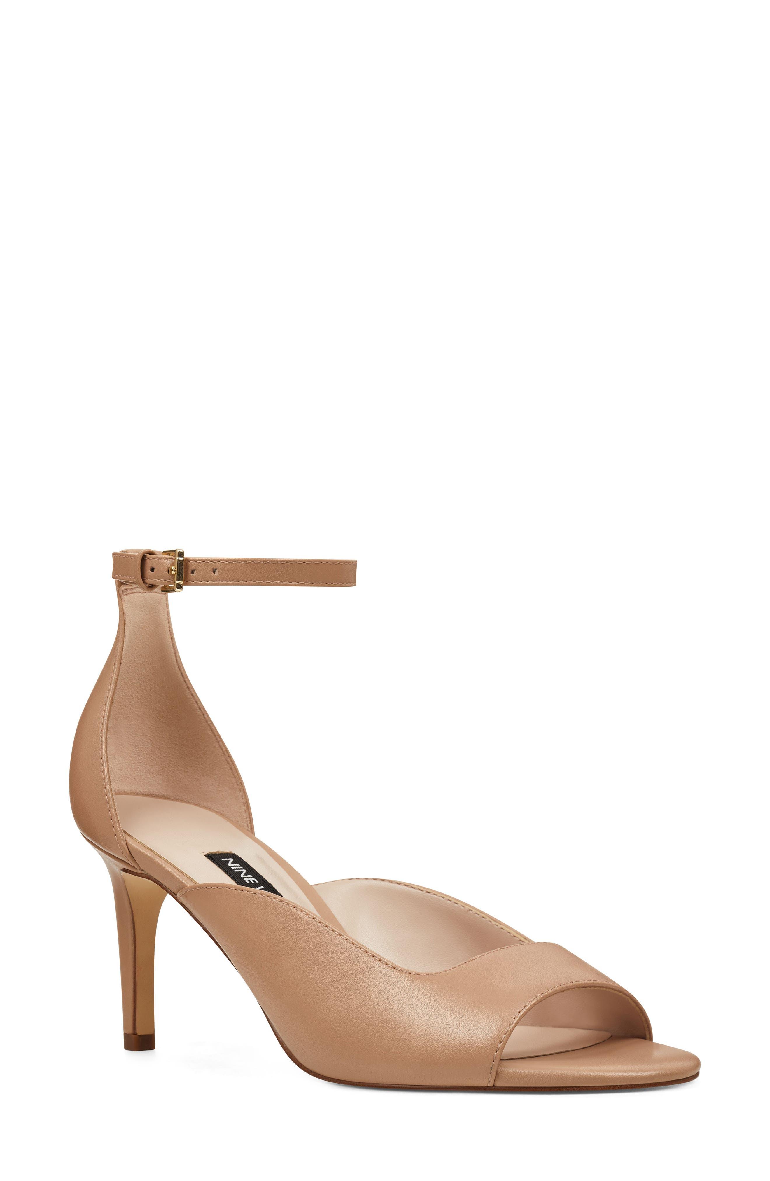 Nine West Avielle Ankle Strap Sandal, Beige