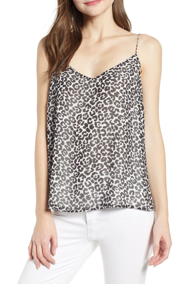 Vince Camuto Tops LEOPARD LACE-UP CAMISOLE