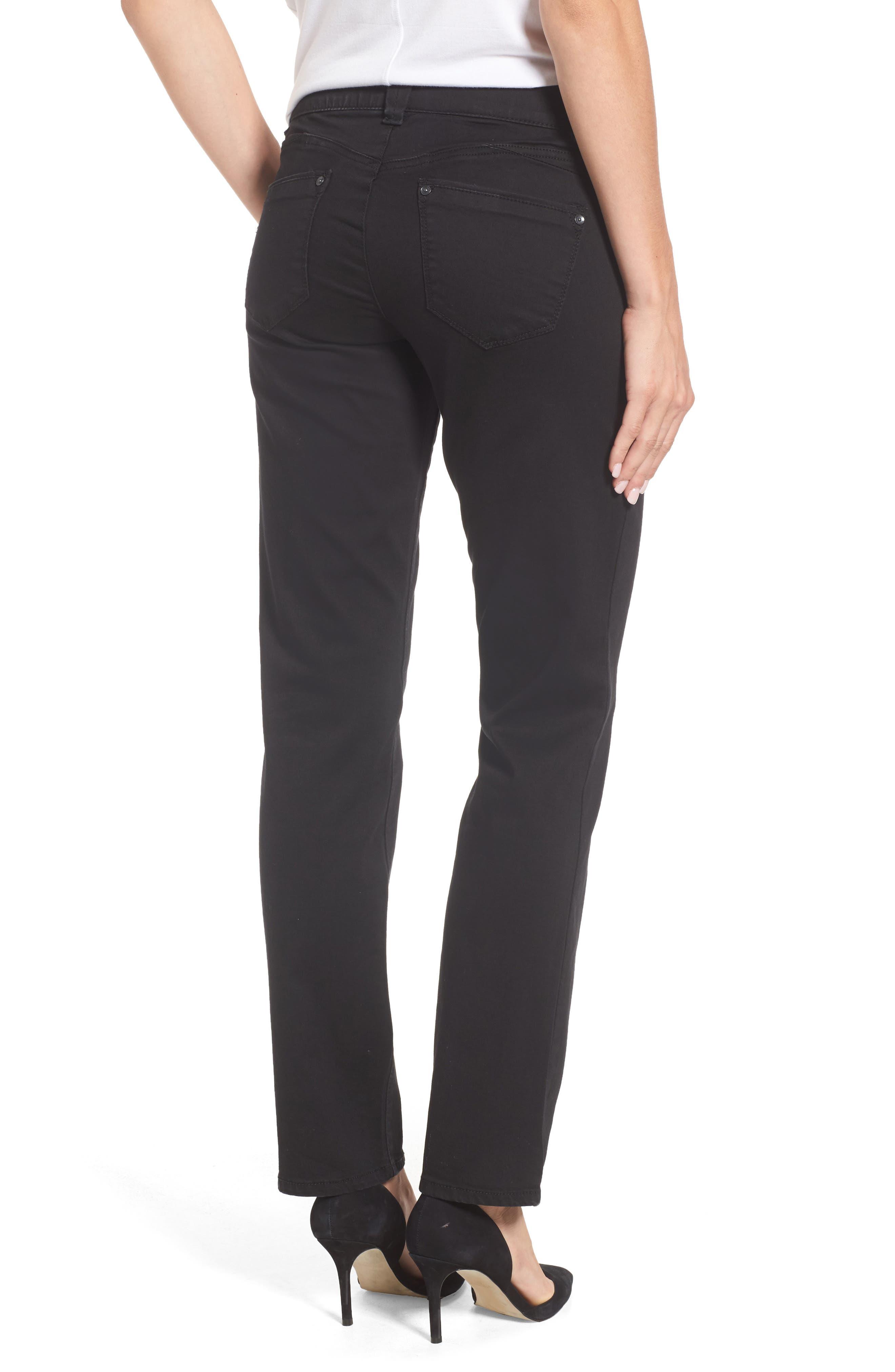 WIT & WISDOM, Ab-solution Straight Leg Jeans, Alternate thumbnail 2, color, BLACK