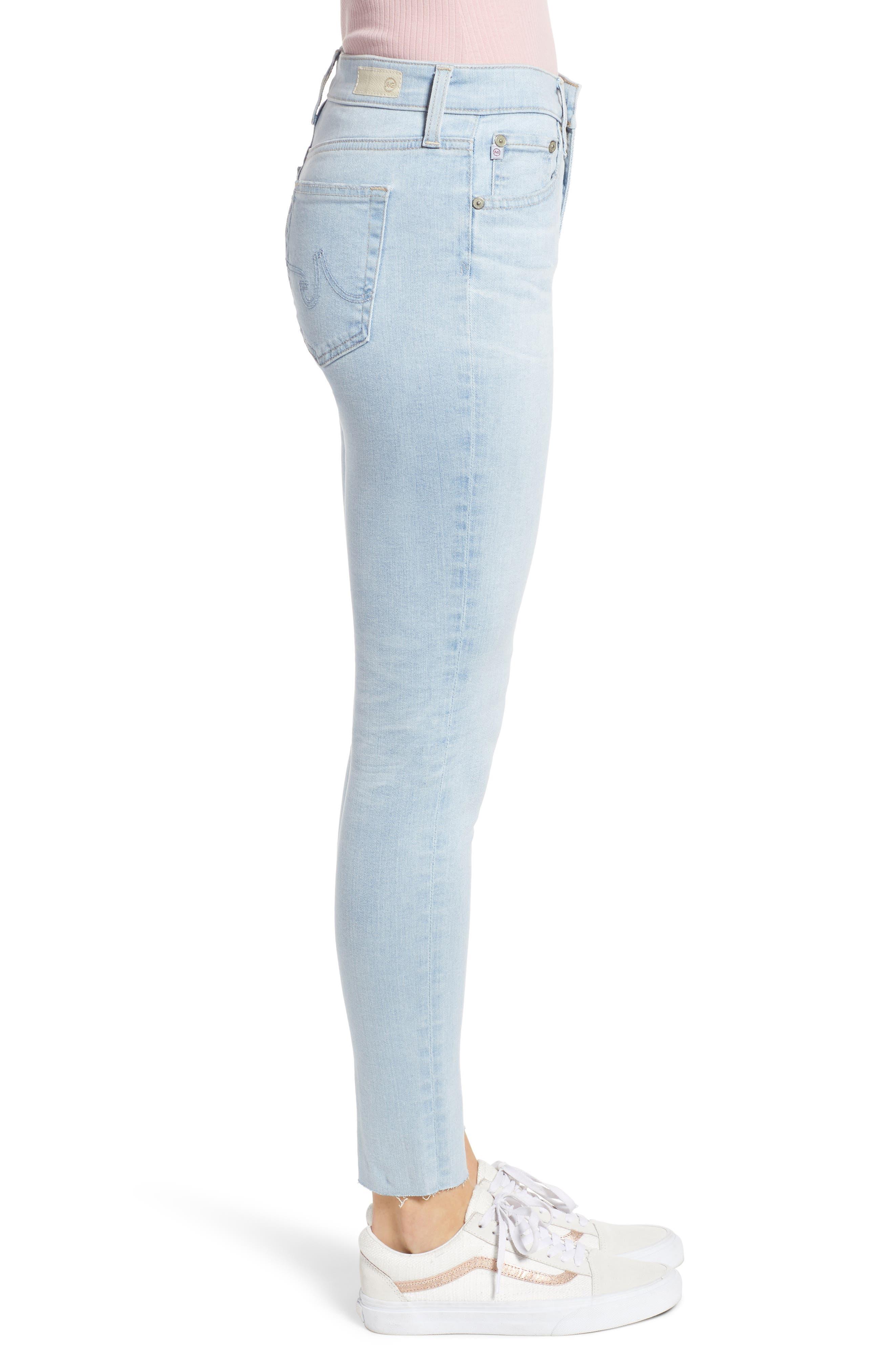 AG, The Farrah High Waist Ankle Skinny Jeans, Alternate thumbnail 4, color, 27 YEARS SHINING