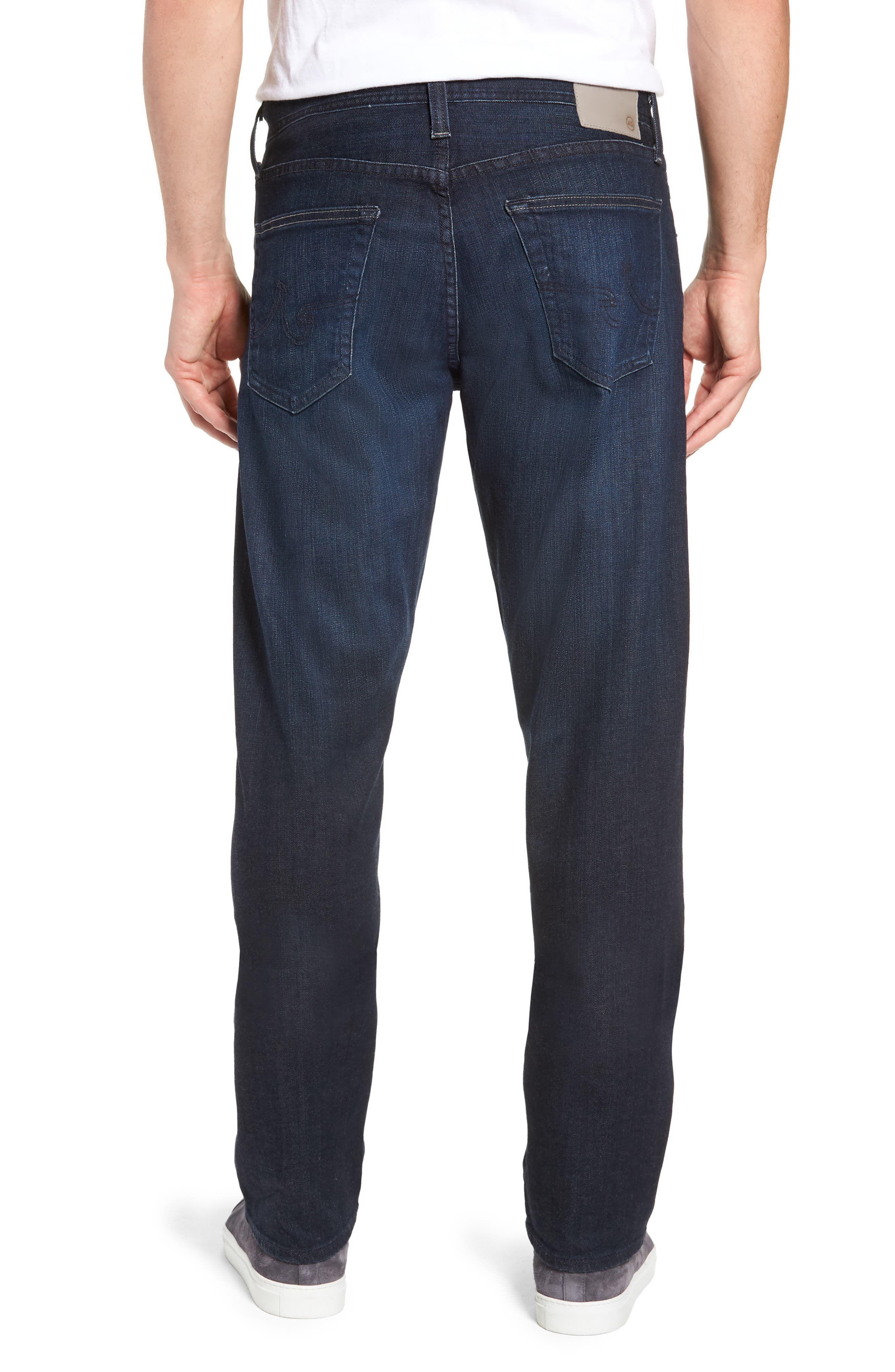 AG, Ives Straight Fit Jeans, Alternate thumbnail 2, color, PATTERSON