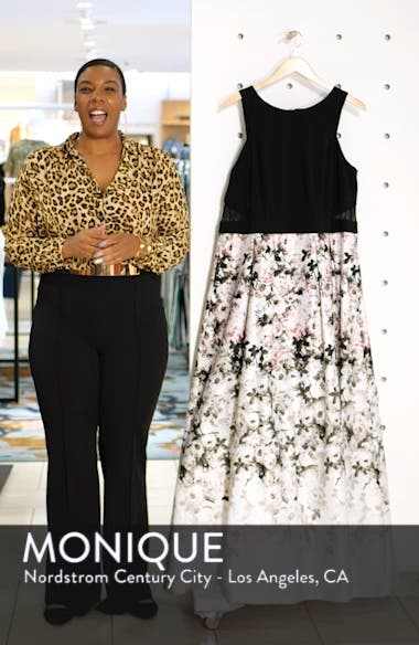 Floral Print Evening Gown, sales video thumbnail