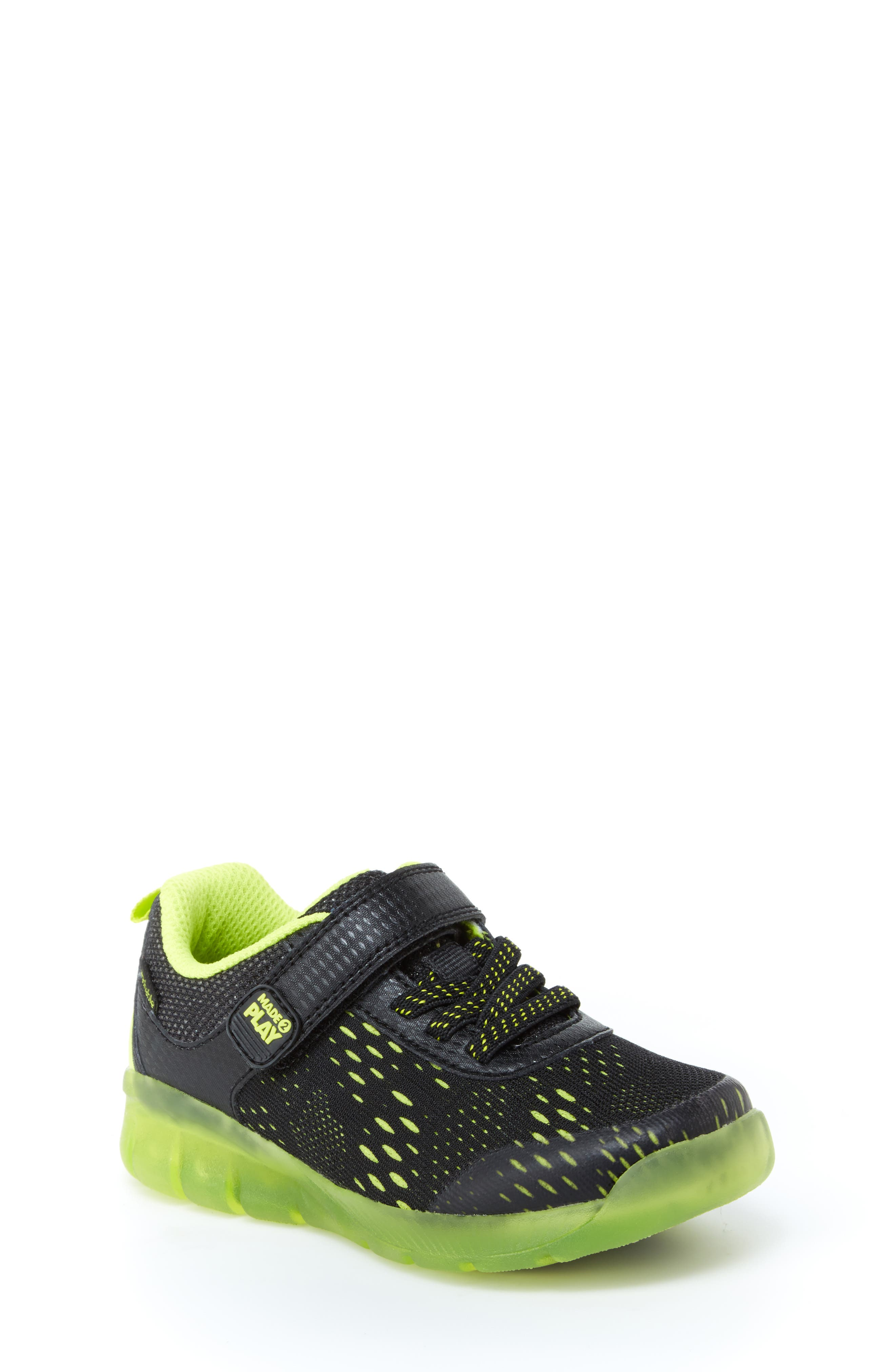STRIDE RITE, Made2Play<sup>®</sup> Neo Light-Up Sneaker, Main thumbnail 1, color, 002