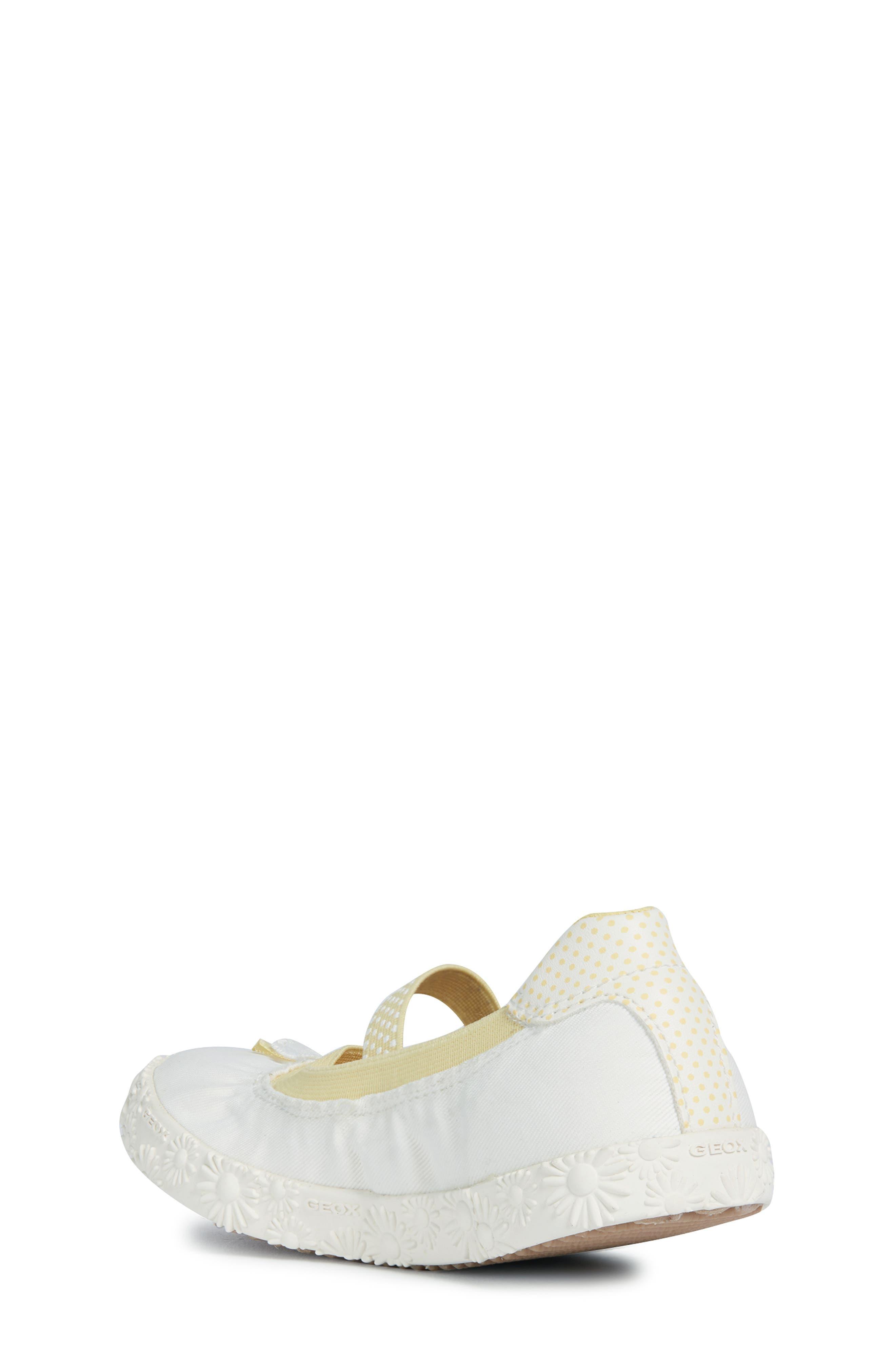 GEOX, Kilwi Daisy Mary Jane Sneaker, Alternate thumbnail 2, color, WHITE