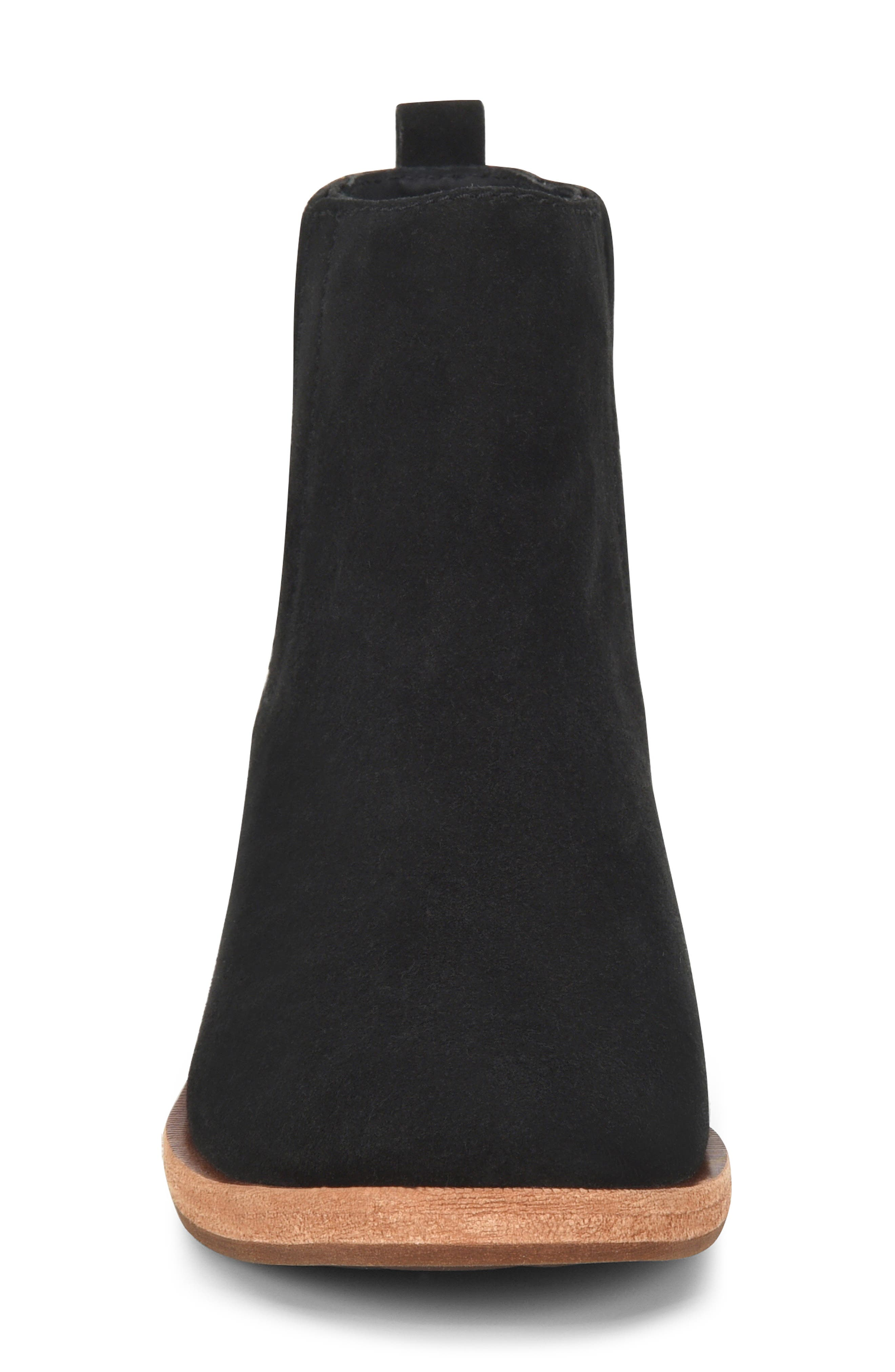 KORK-EASE<SUP>®</SUP>, Mindo Chelsea Bootie, Alternate thumbnail 4, color, BLACK SUEDE