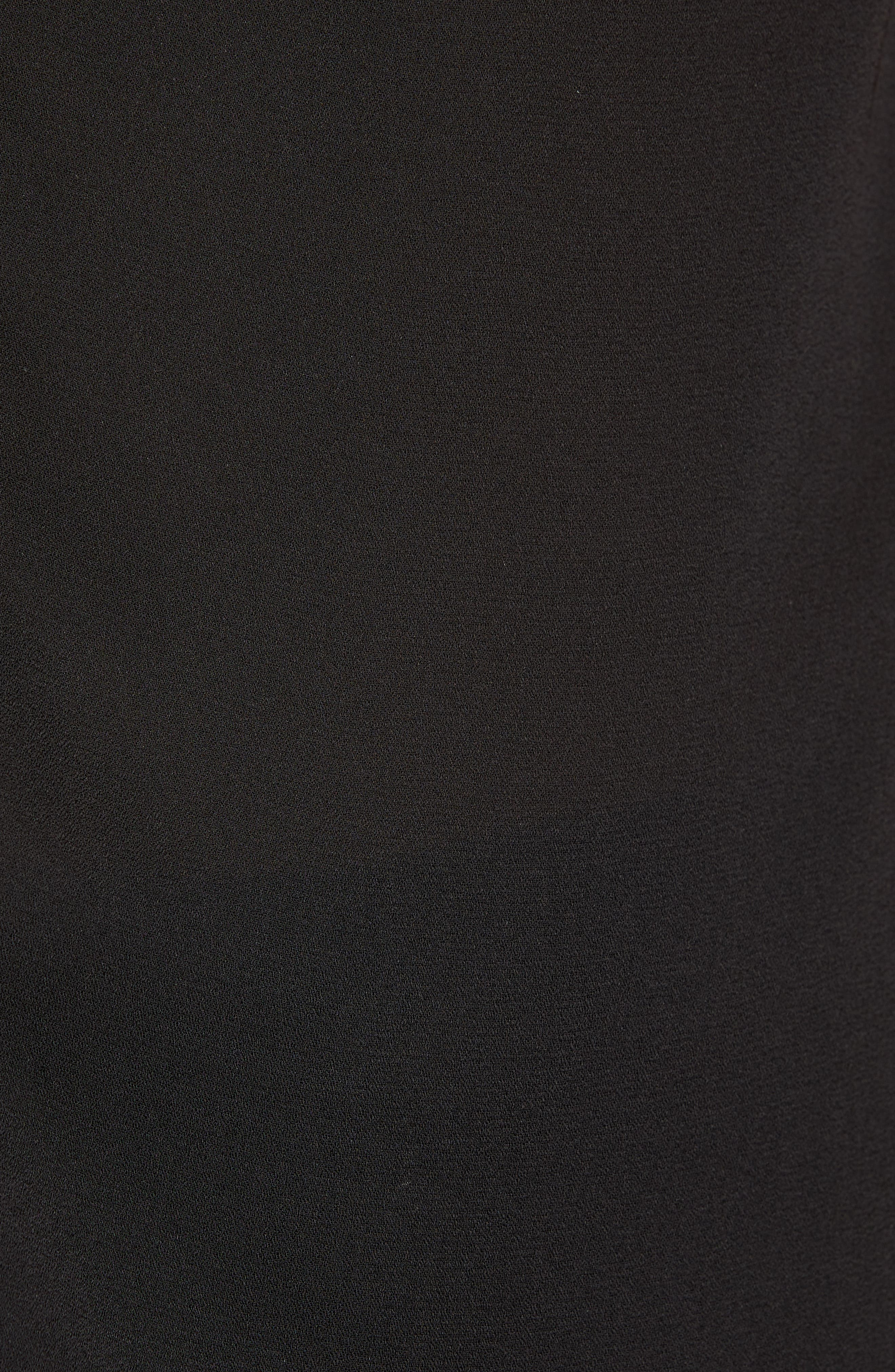 ROW A, Cap Sleeve Top, Alternate thumbnail 5, color, BLACK SOLID