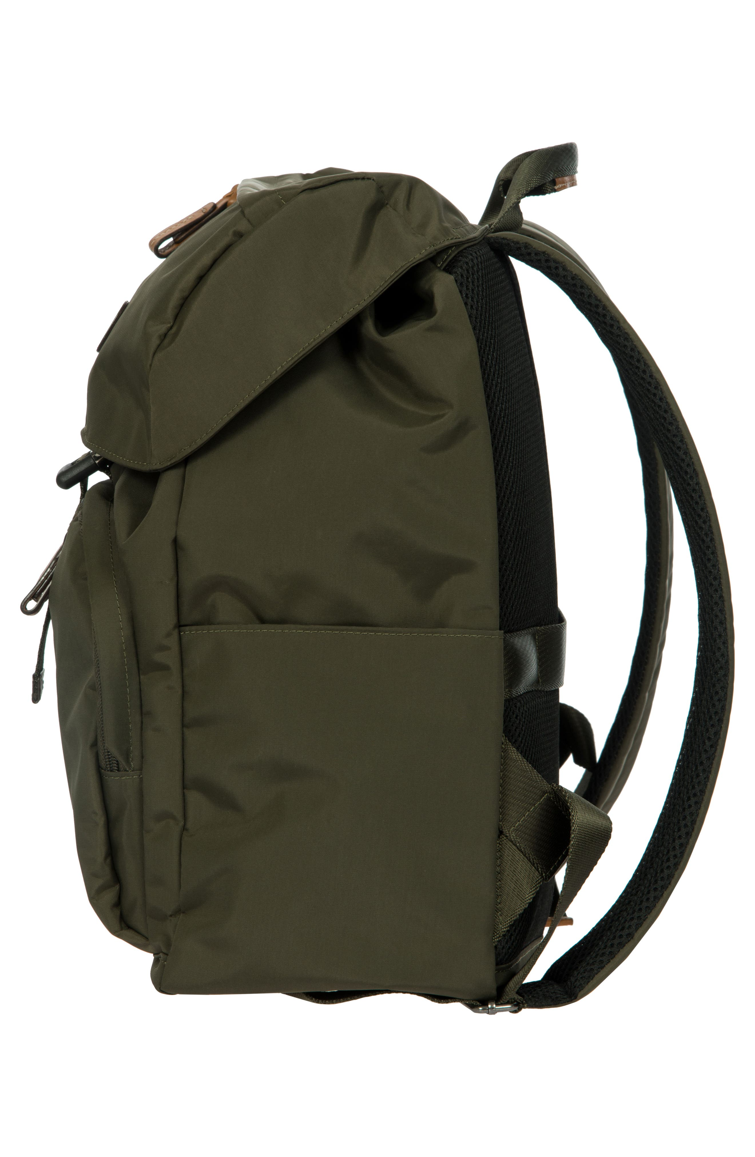 BRIC'S, X-Bag Travel Excursion Backpack, Alternate thumbnail 4, color, OLIVE