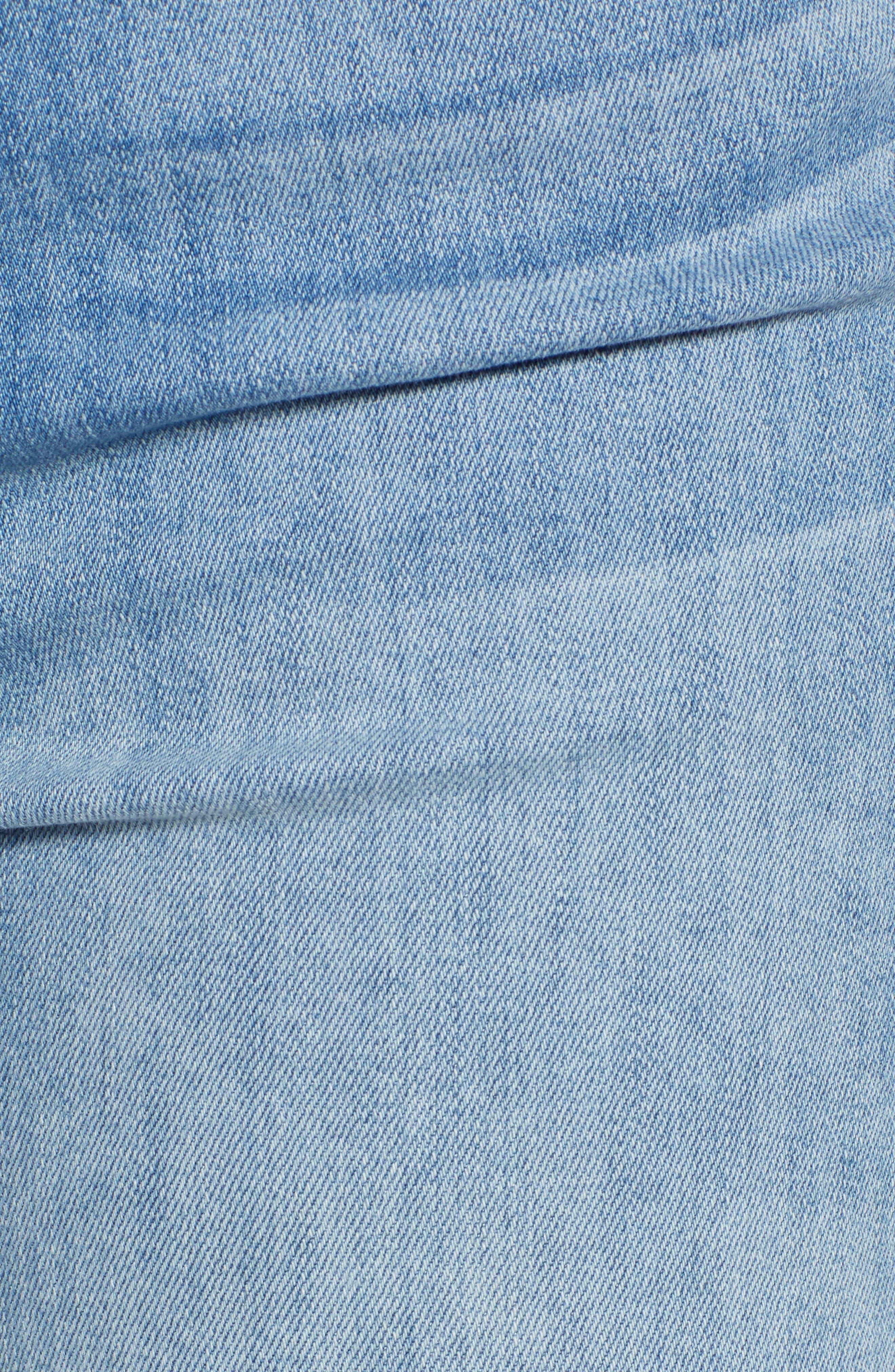 JEN7 BY 7 FOR ALL MANKIND, Pompom Detail Crop Skinny Jeans, Alternate thumbnail 5, color, LA QUINTA POM POM