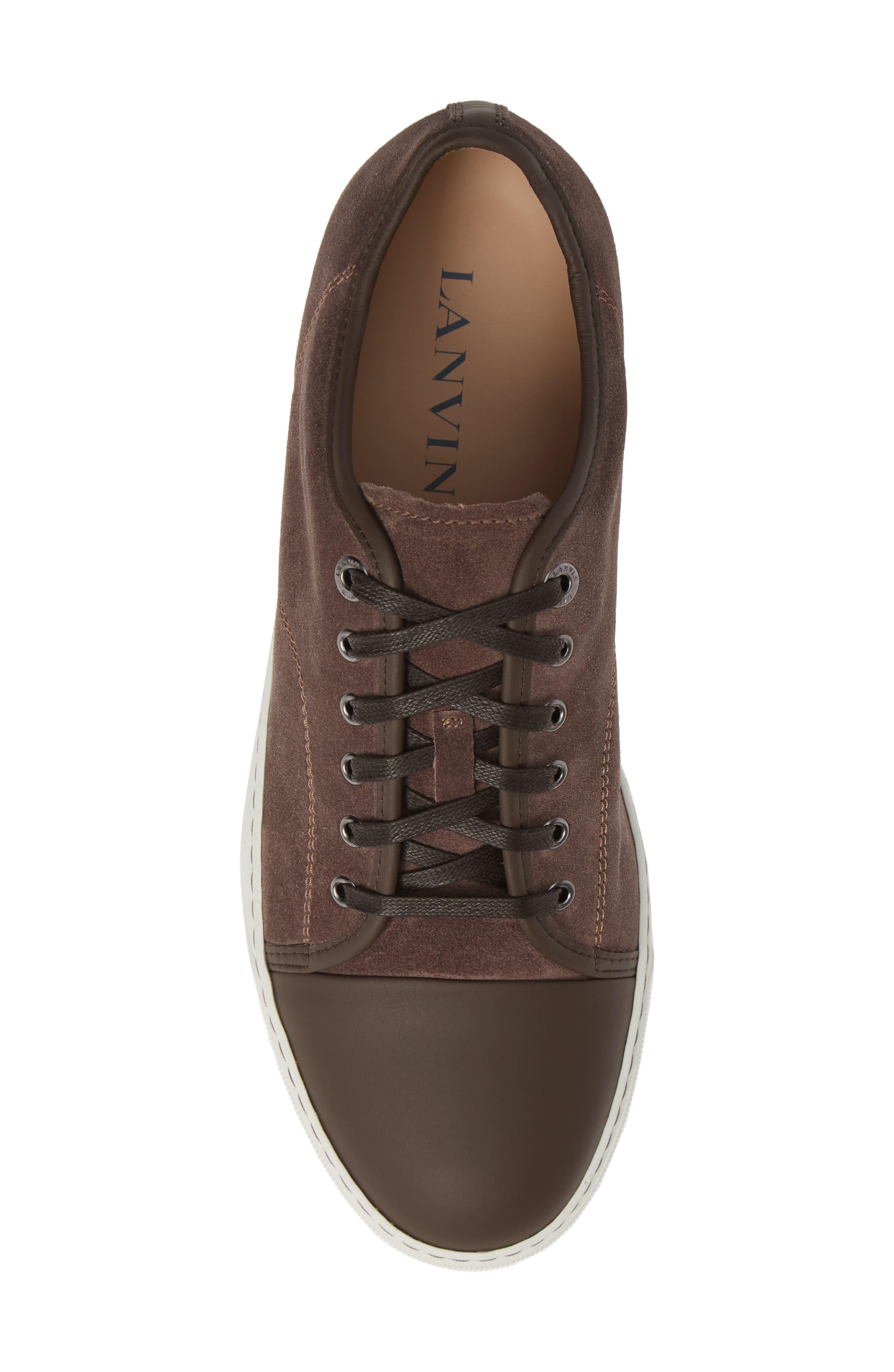 LANVIN, Low Top Sneaker, Alternate thumbnail 5, color, CLAY