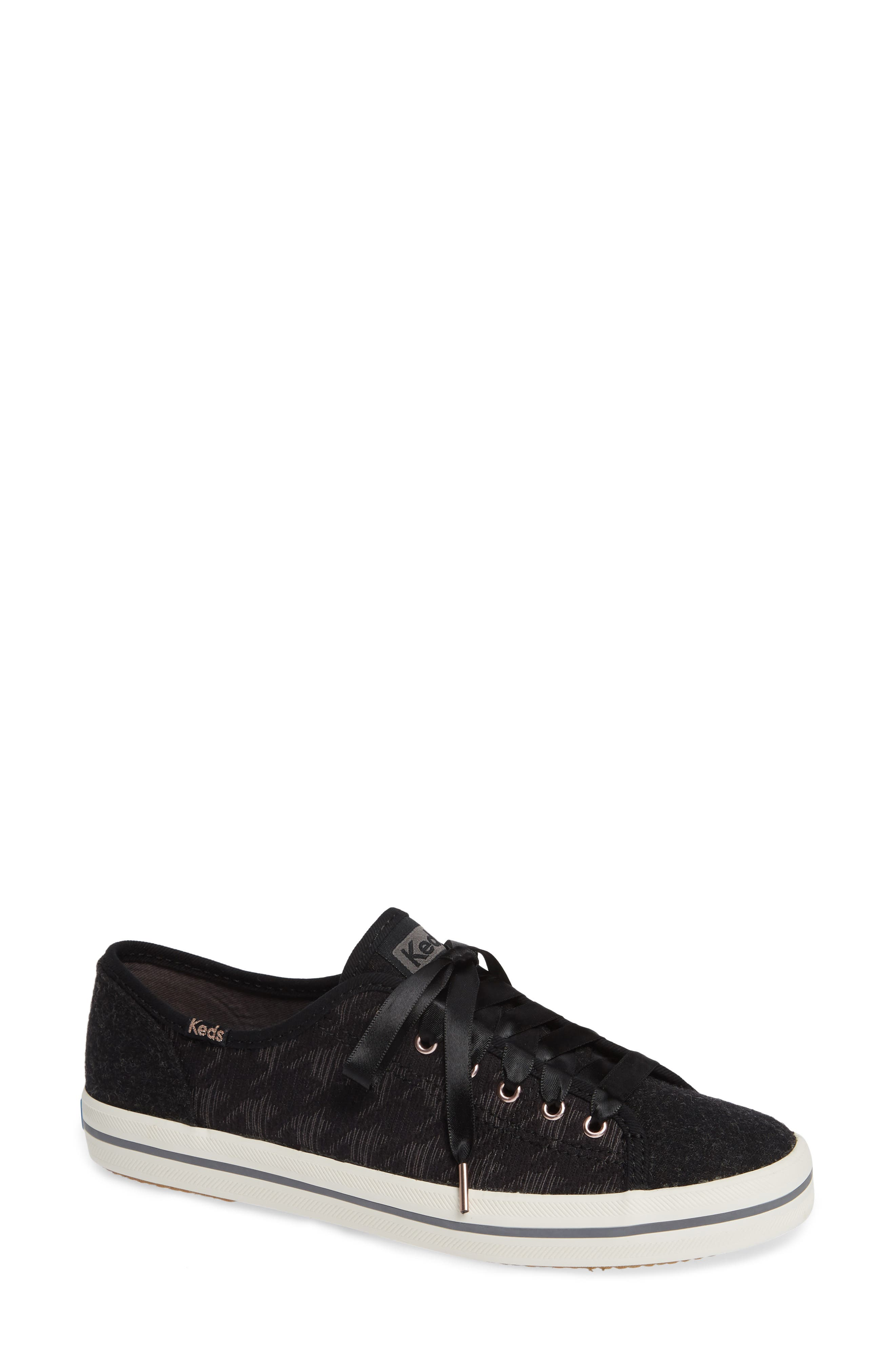 KEDS<SUP>®</SUP>, Kickstart Sneaker, Main thumbnail 1, color, BLACK HOUNDSTOOTH