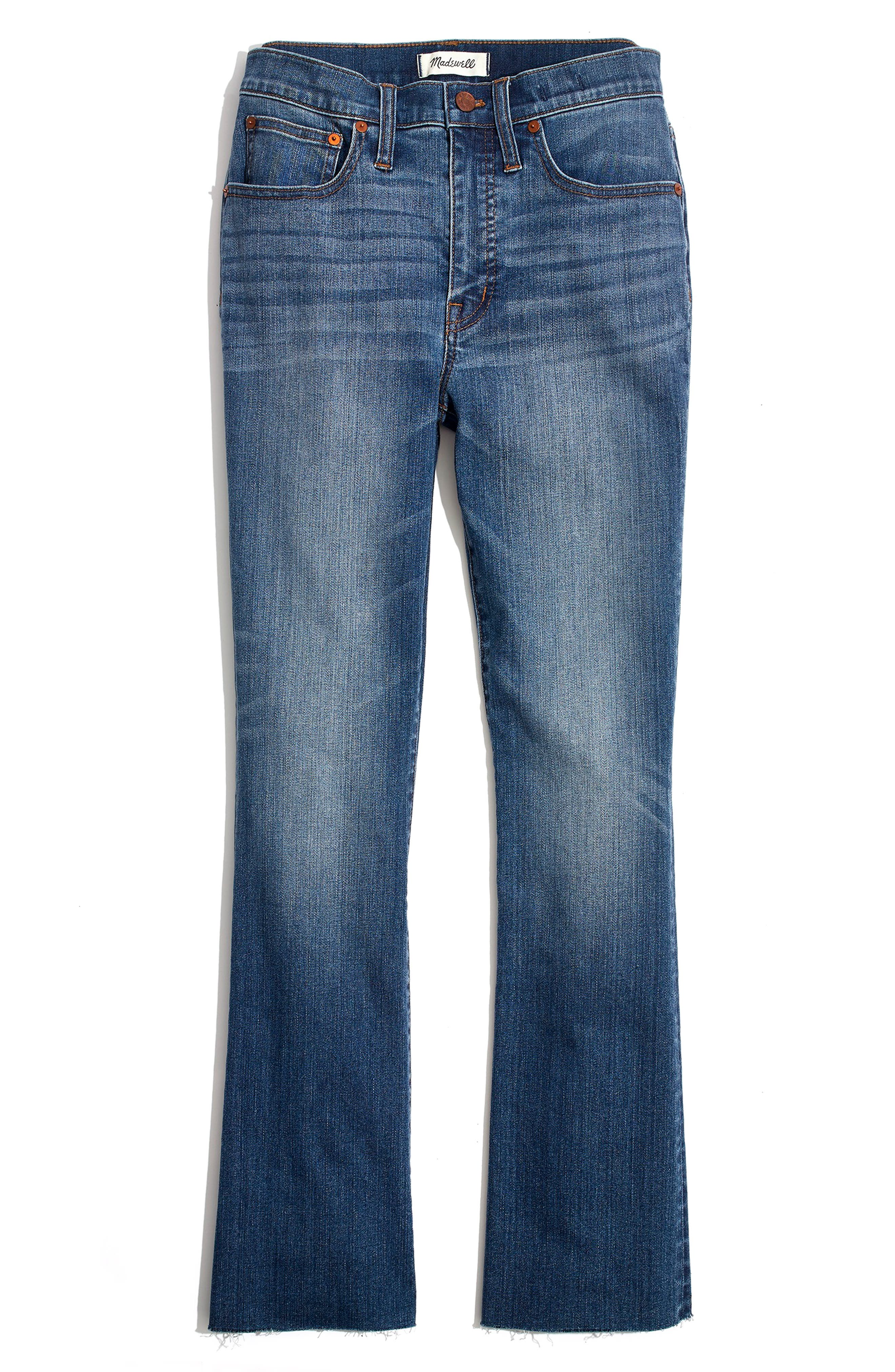 MADEWELL Cali Back Seam Demi Boot Jeans, Main, color, 400