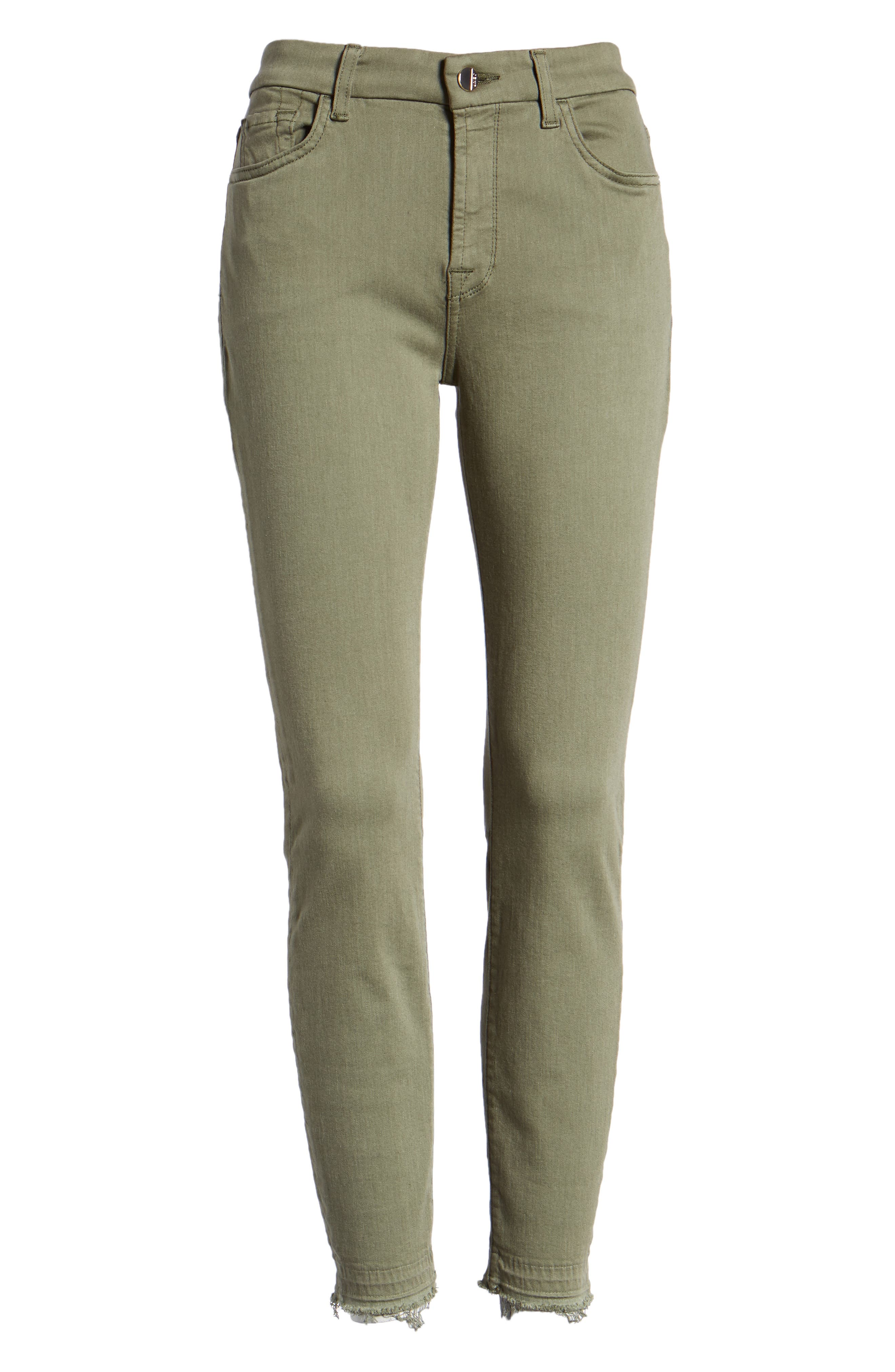 JEN7 BY 7 FOR ALL MANKIND, Release Hem Colored Ankle Skinny Jeans, Alternate thumbnail 7, color, WASHED FATIGUE