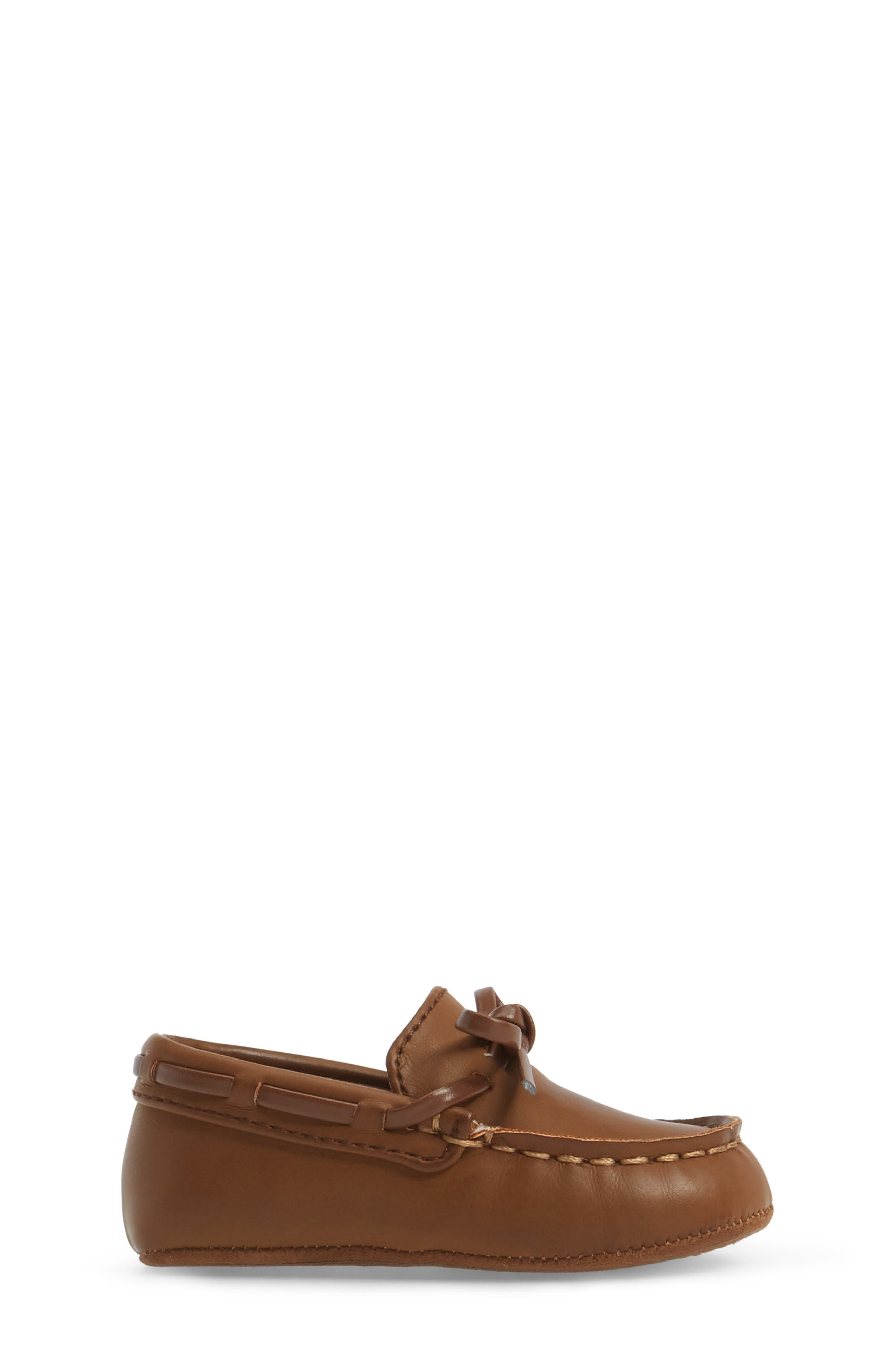 KENNETH COLE NEW YORK, Baby Boat Shoe, Alternate thumbnail 3, color, CARAMEL