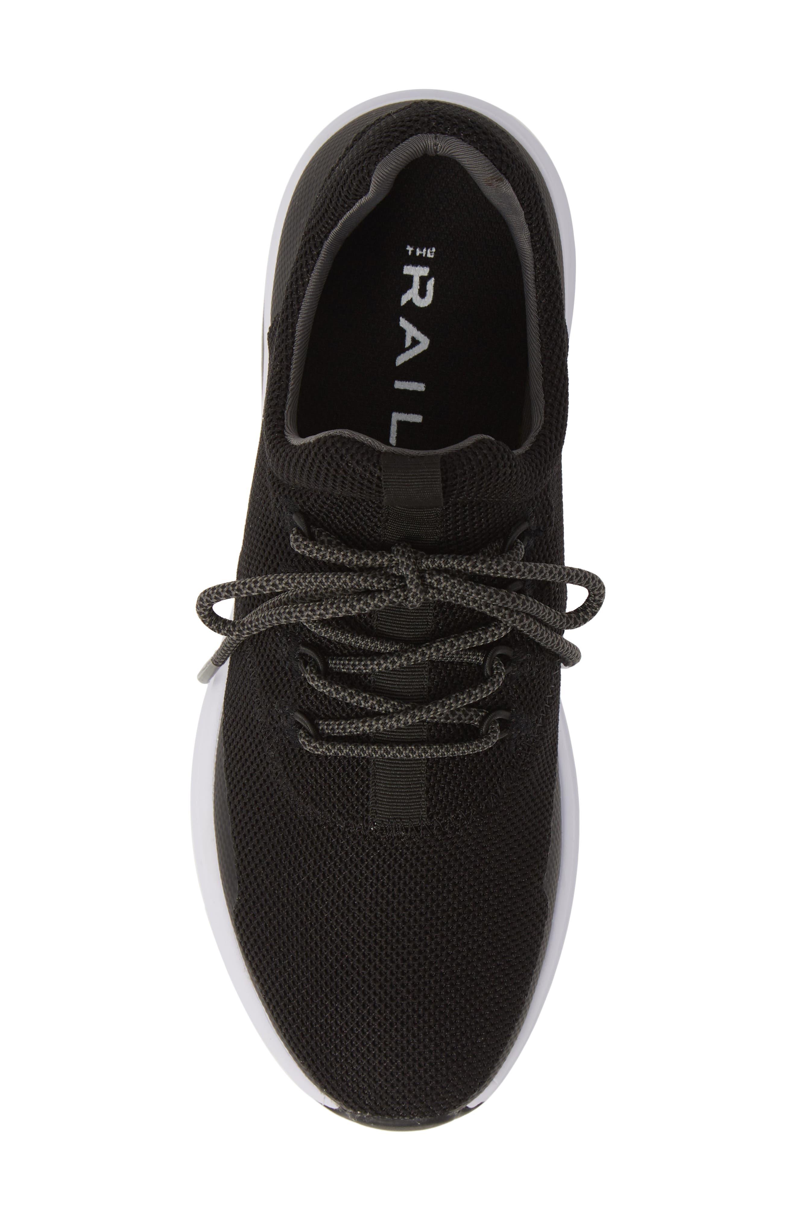 THE RAIL, Axel Sneaker, Alternate thumbnail 5, color, BLACK