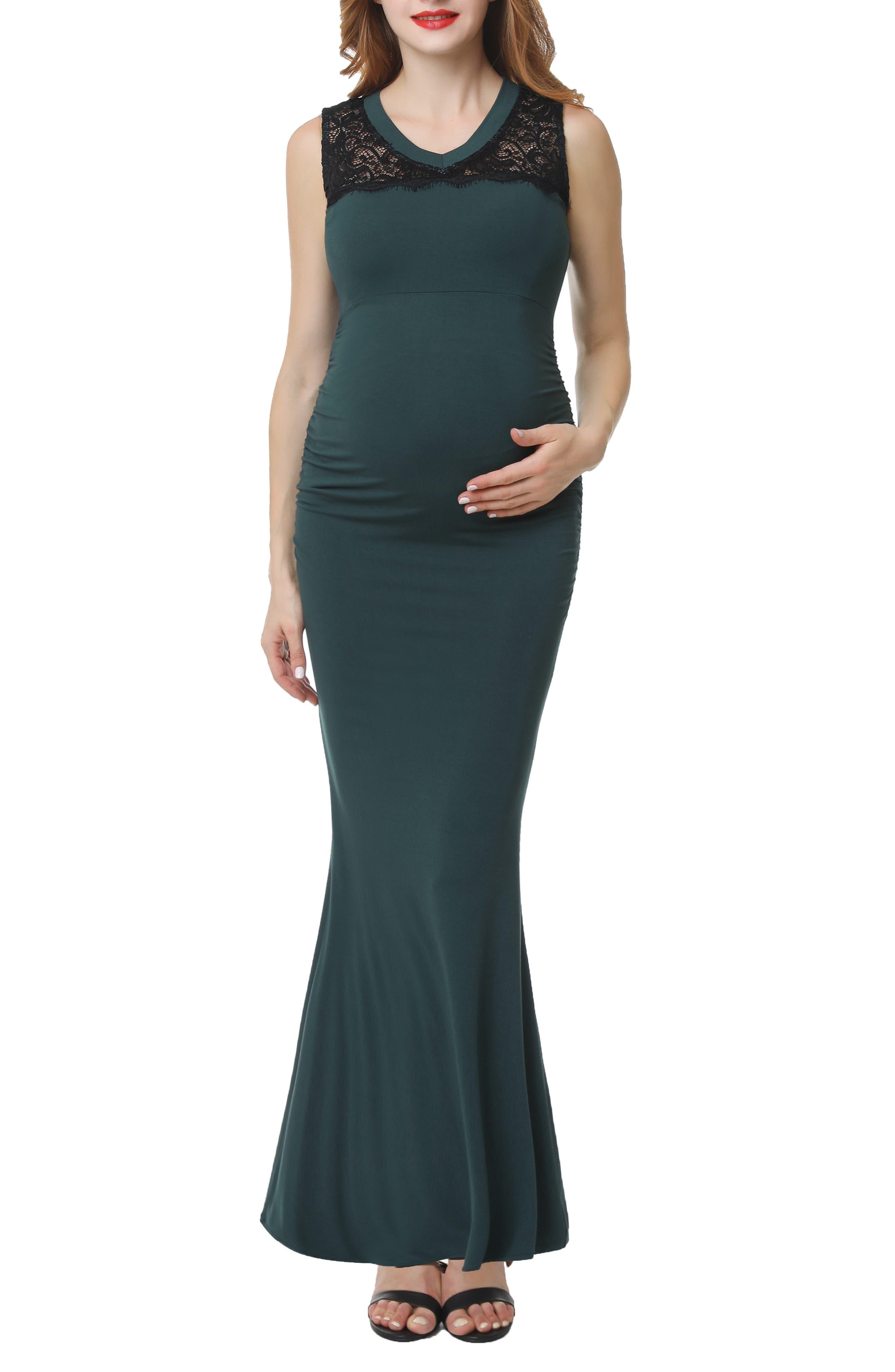 Kimi And Kai Tilda Maternity Mermaid Dress, Green