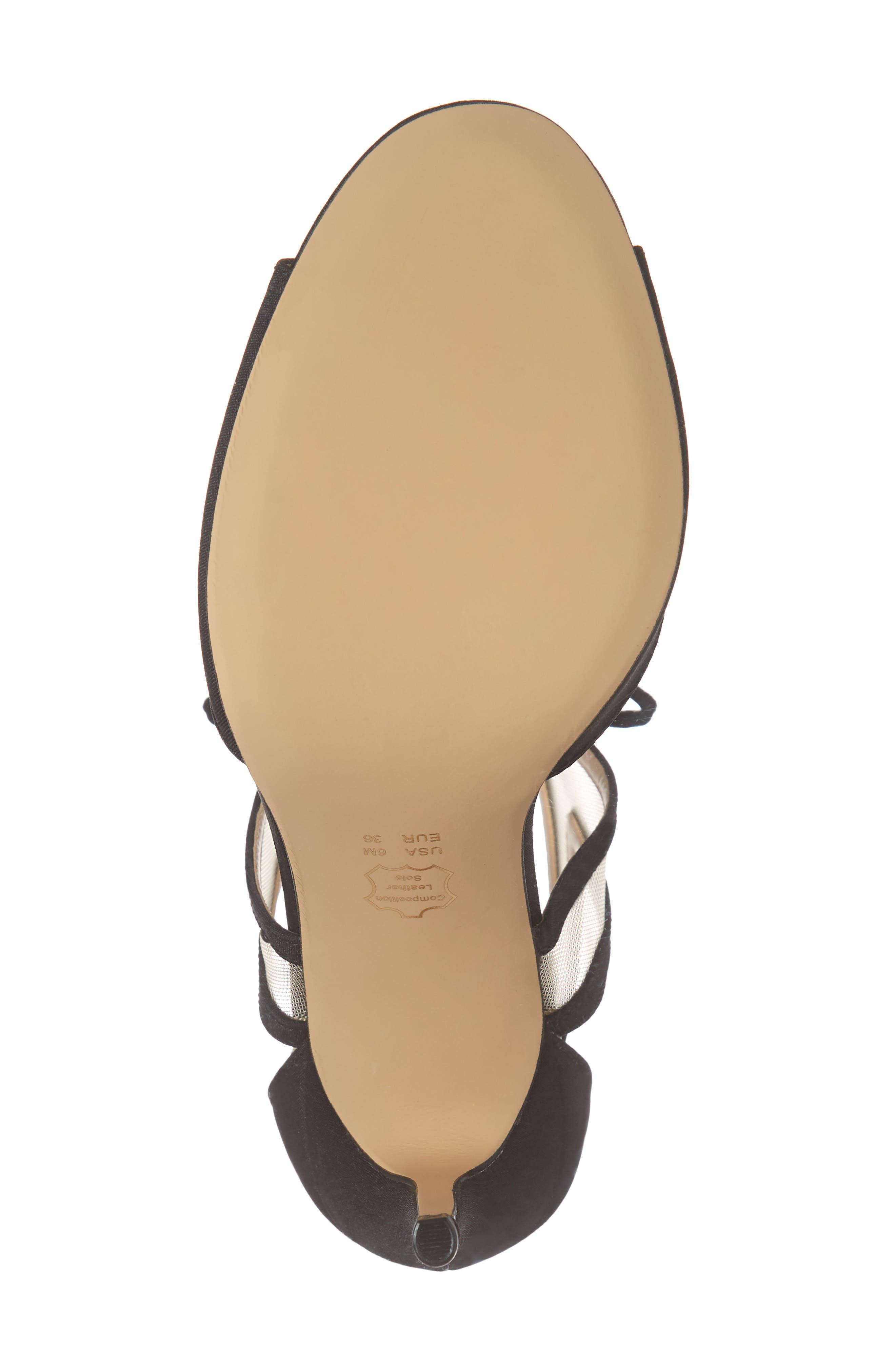 NINA, Caleya Ankle Tie Sandal, Alternate thumbnail 6, color, BLACK CHAMPAGNE