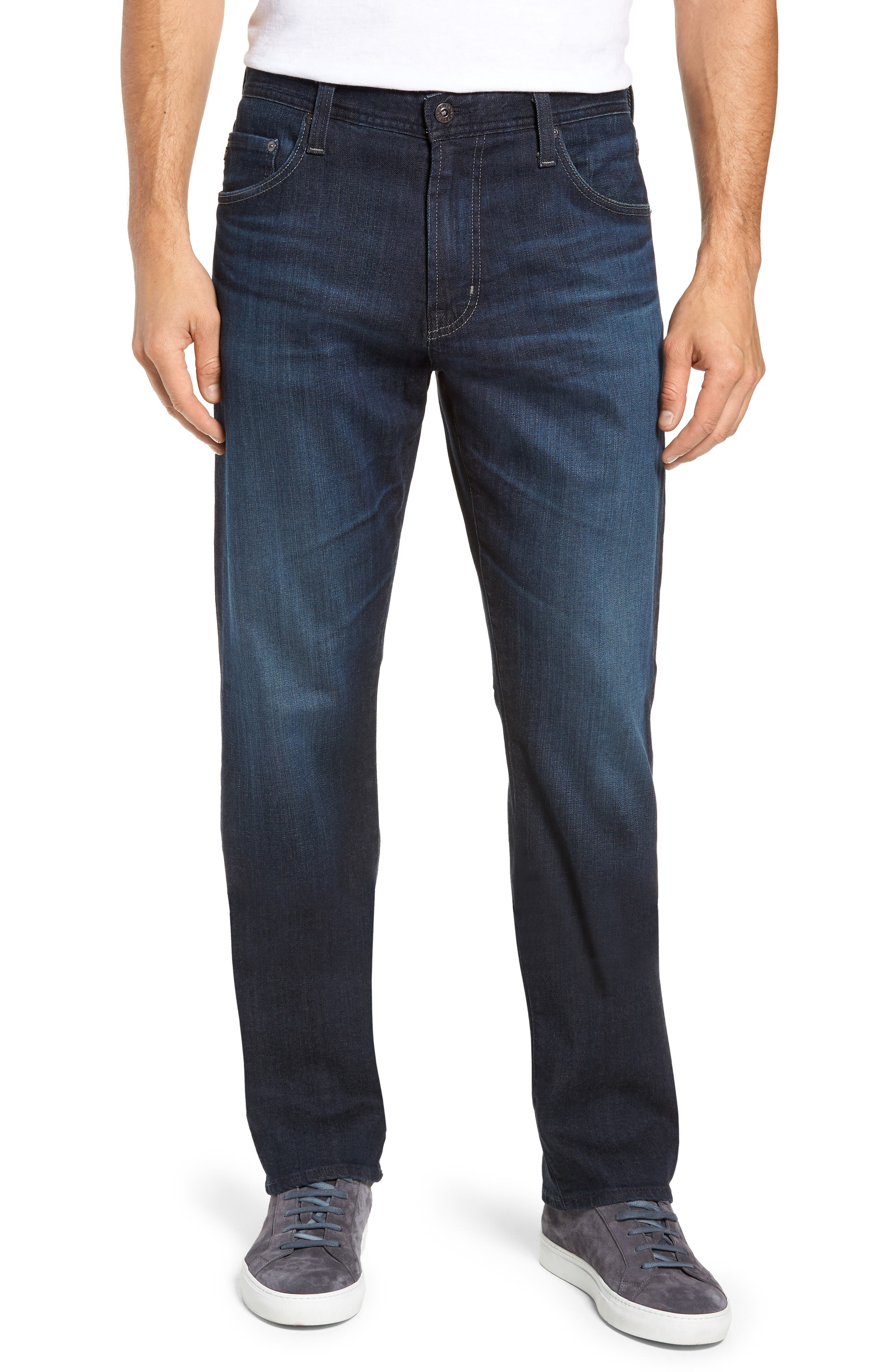 AG Ives Straight Fit Jeans, Main, color, PATTERSON