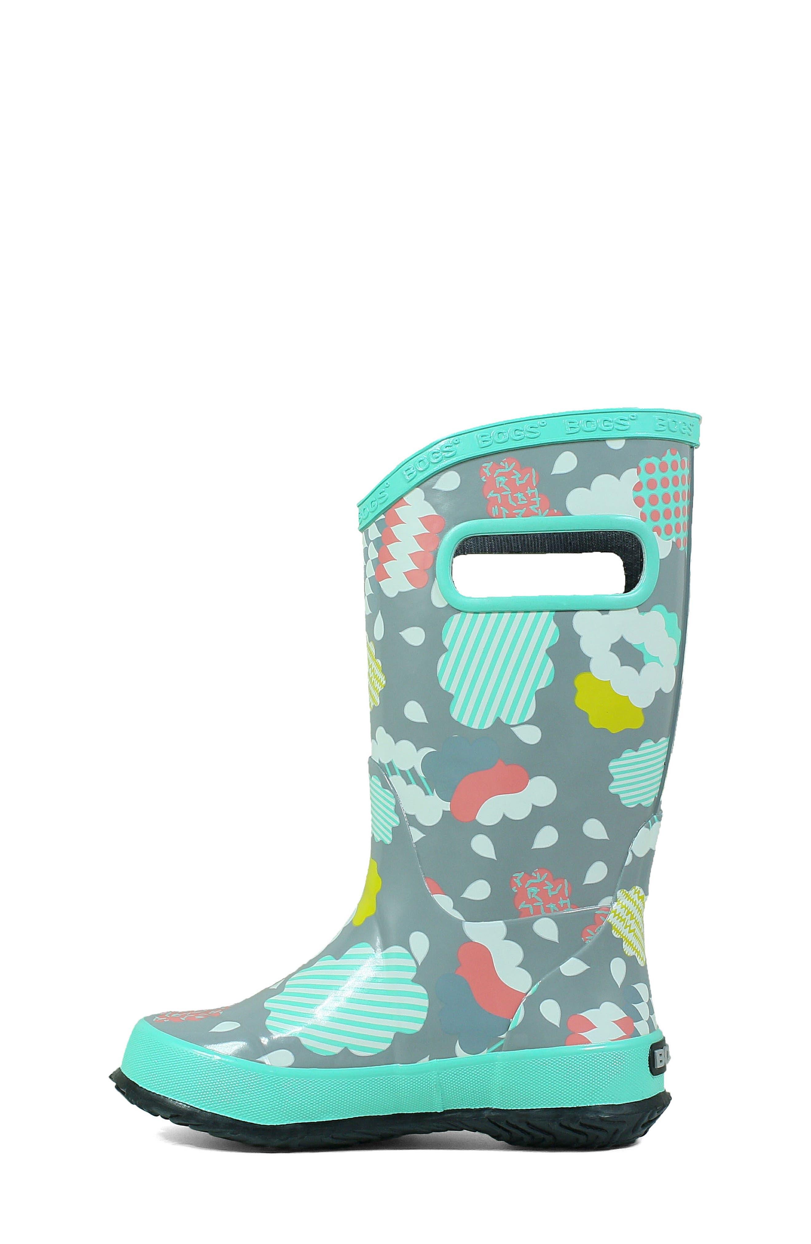 BOGS, Clouds Waterproof Rain Boot, Alternate thumbnail 8, color, 062