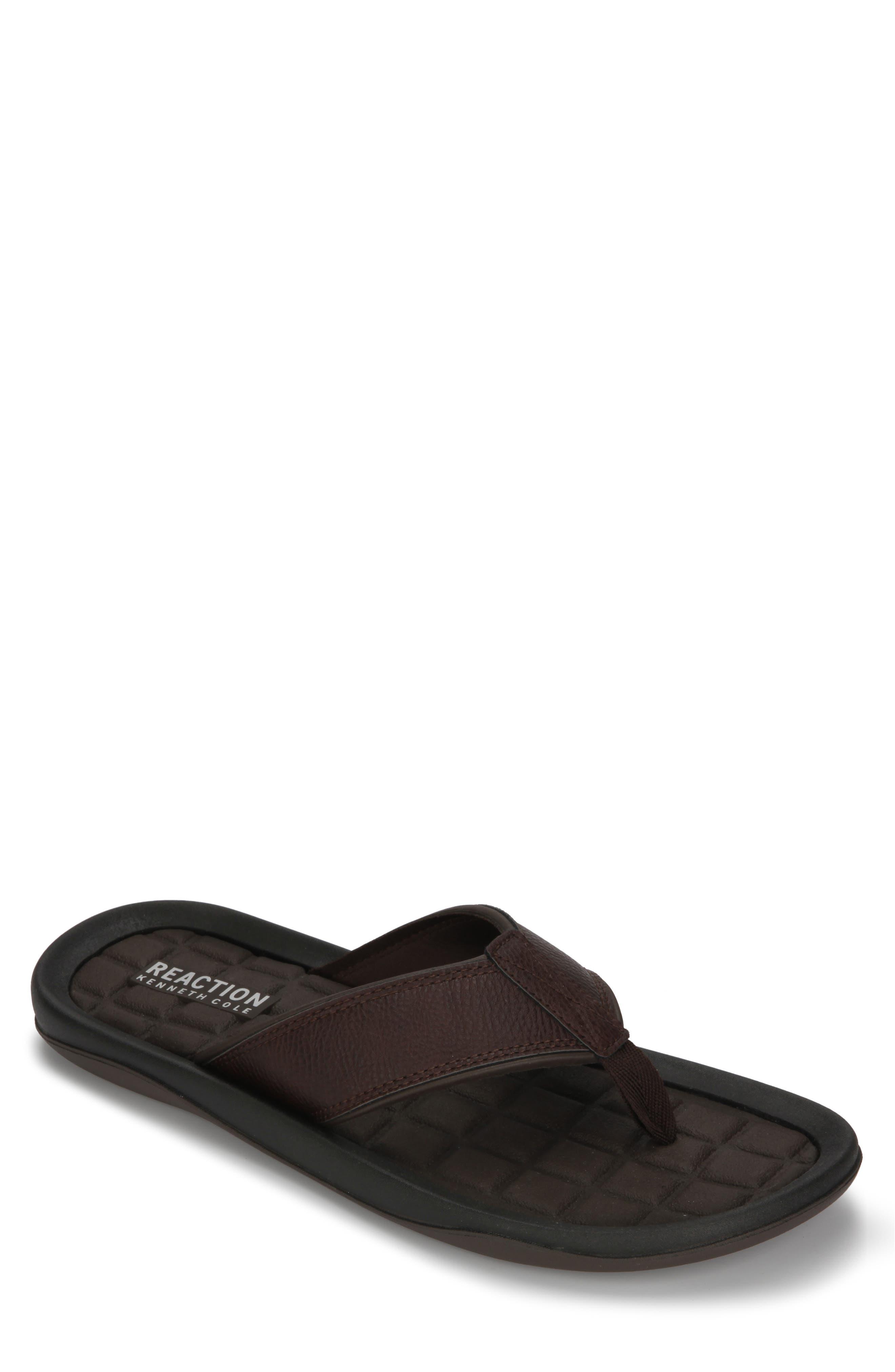 REACTION KENNETH COLE Four Sandal Flip Flop, Main, color, BROWN