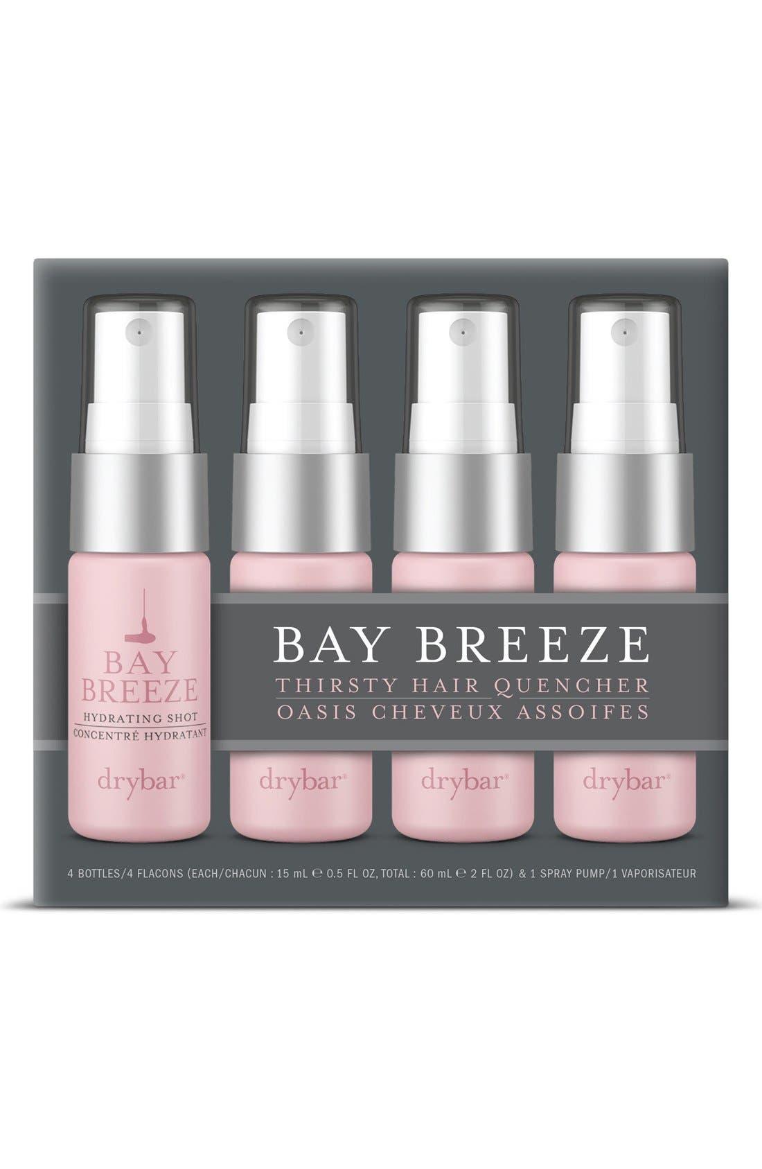DRYBAR, Bay Breeze Set of 4 Hydrating Shots, Alternate thumbnail 3, color, NO COLOR