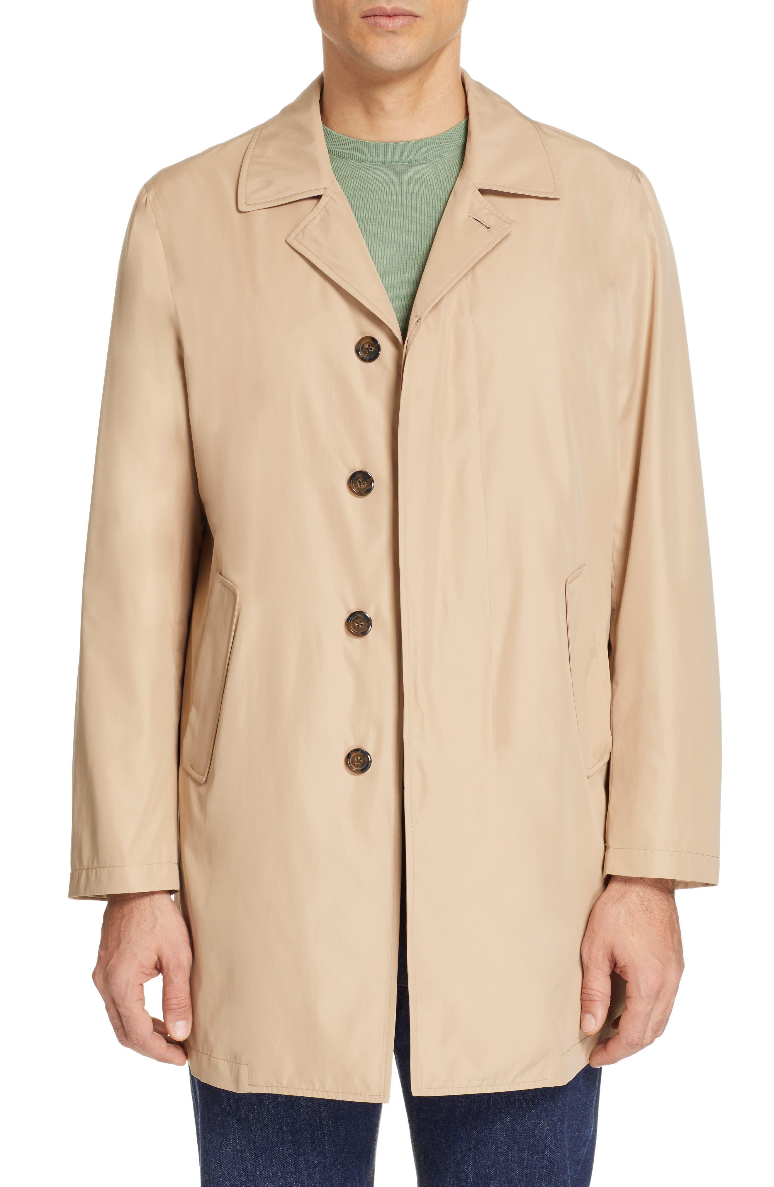 CANALI Lightweight Overcoat, Main, color, BEIGE