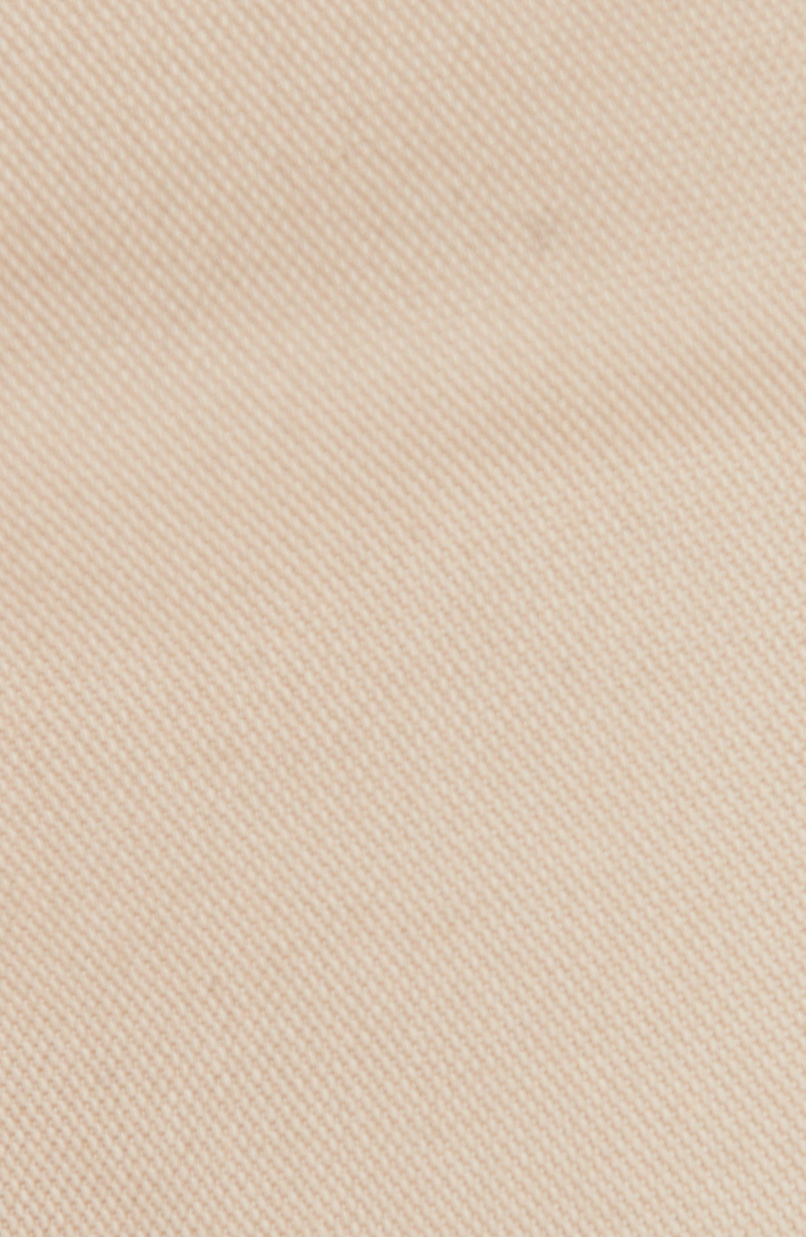 ERMENEGILDO ZEGNA, Stretch Cotton Five Pocket Pants, Alternate thumbnail 6, color, LIGHT BEIGE